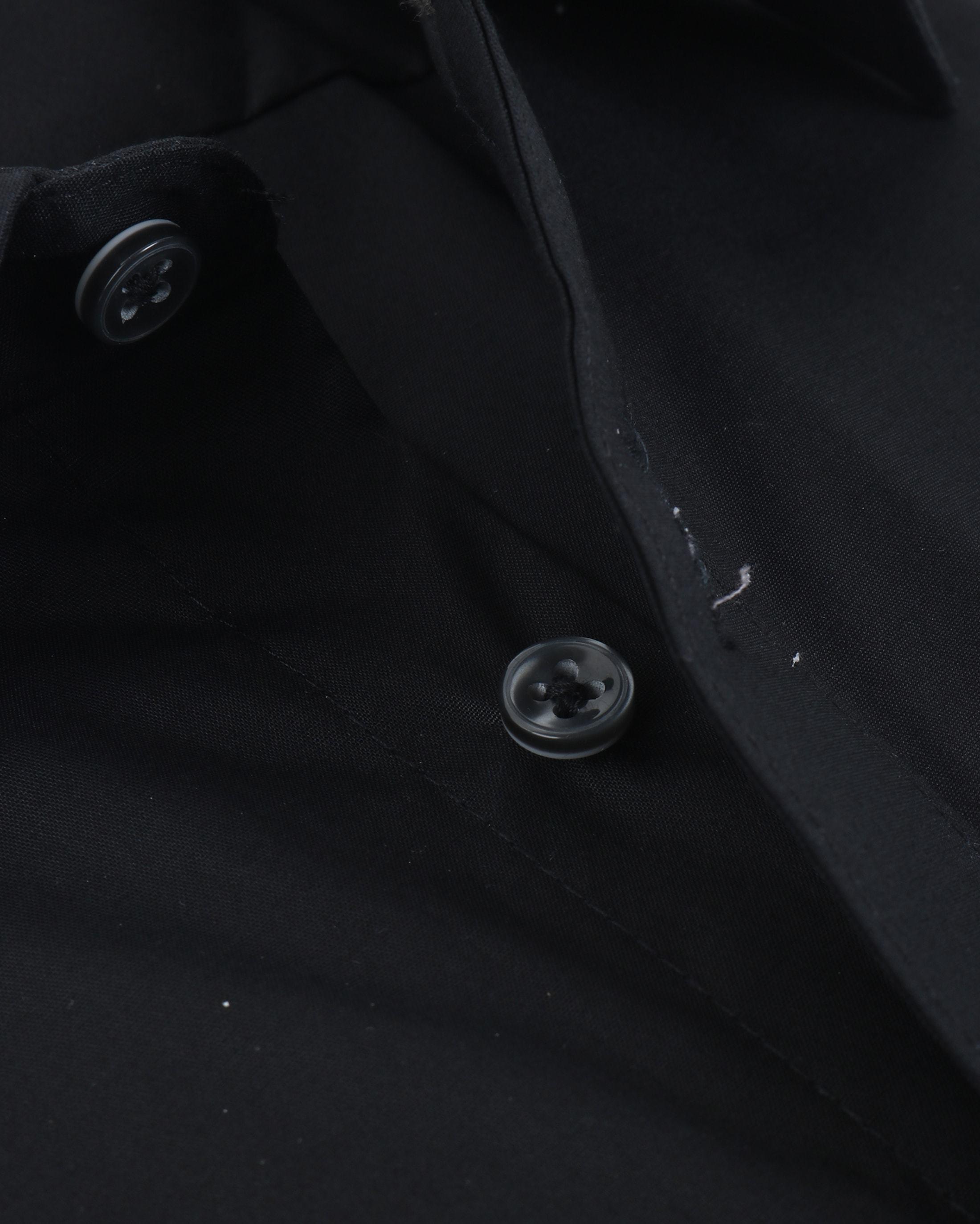 Profuomo Super Slim Fit Overhemd Zwart foto 1