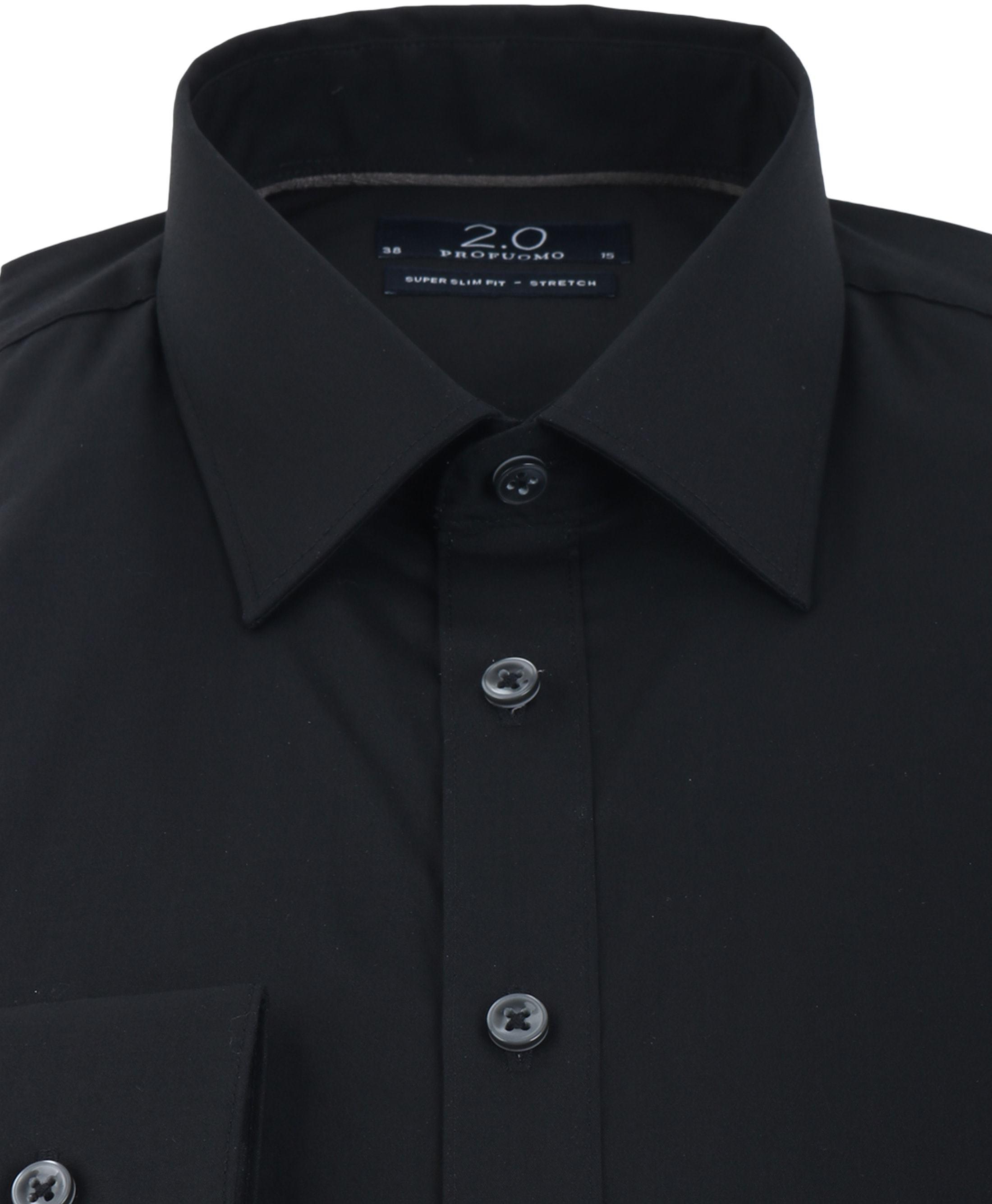 Profuomo Super Slim Fit Overhemd Zwart foto 2