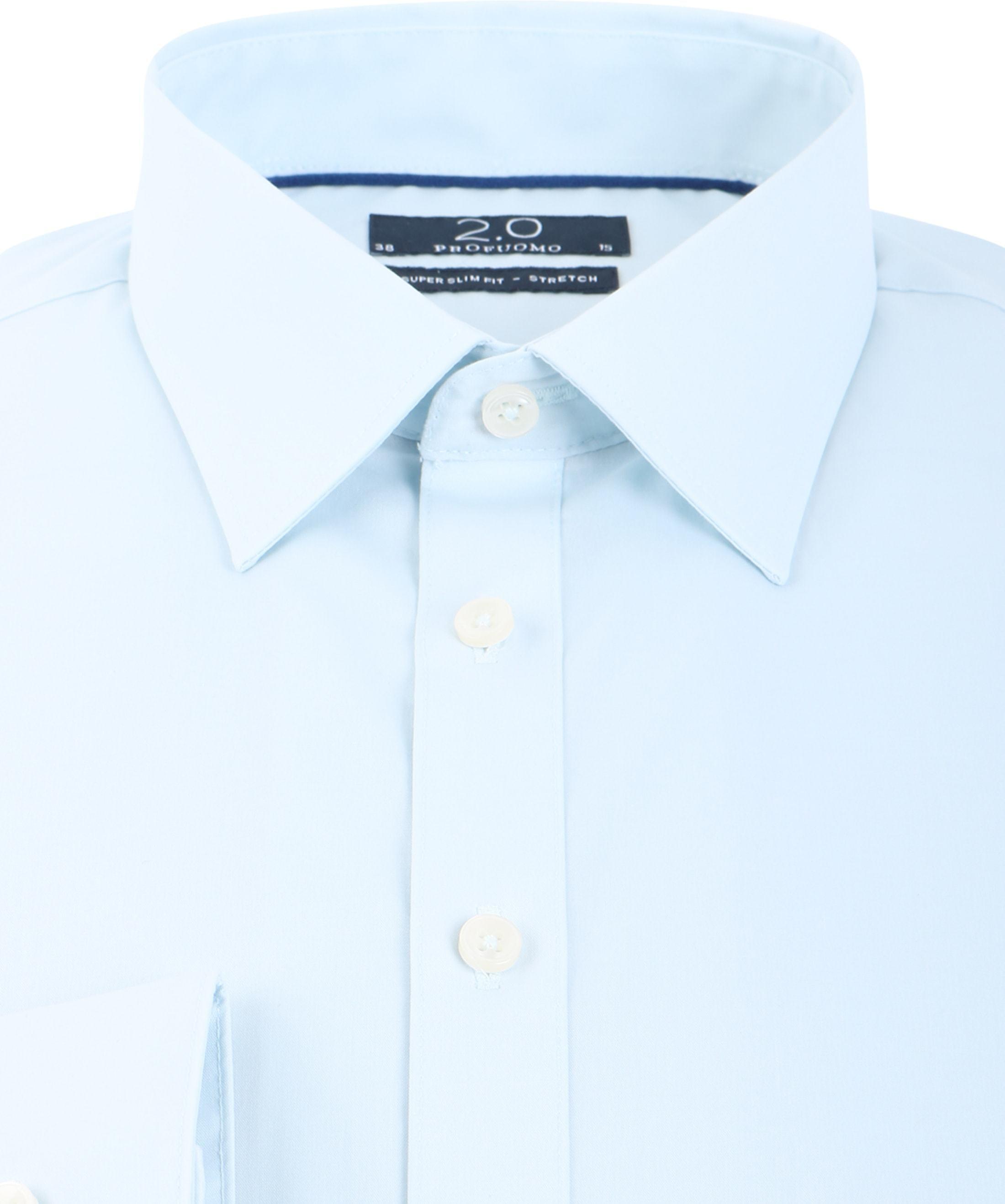 Profuomo Super Slim Fit Shirt Ice Blue foto 2