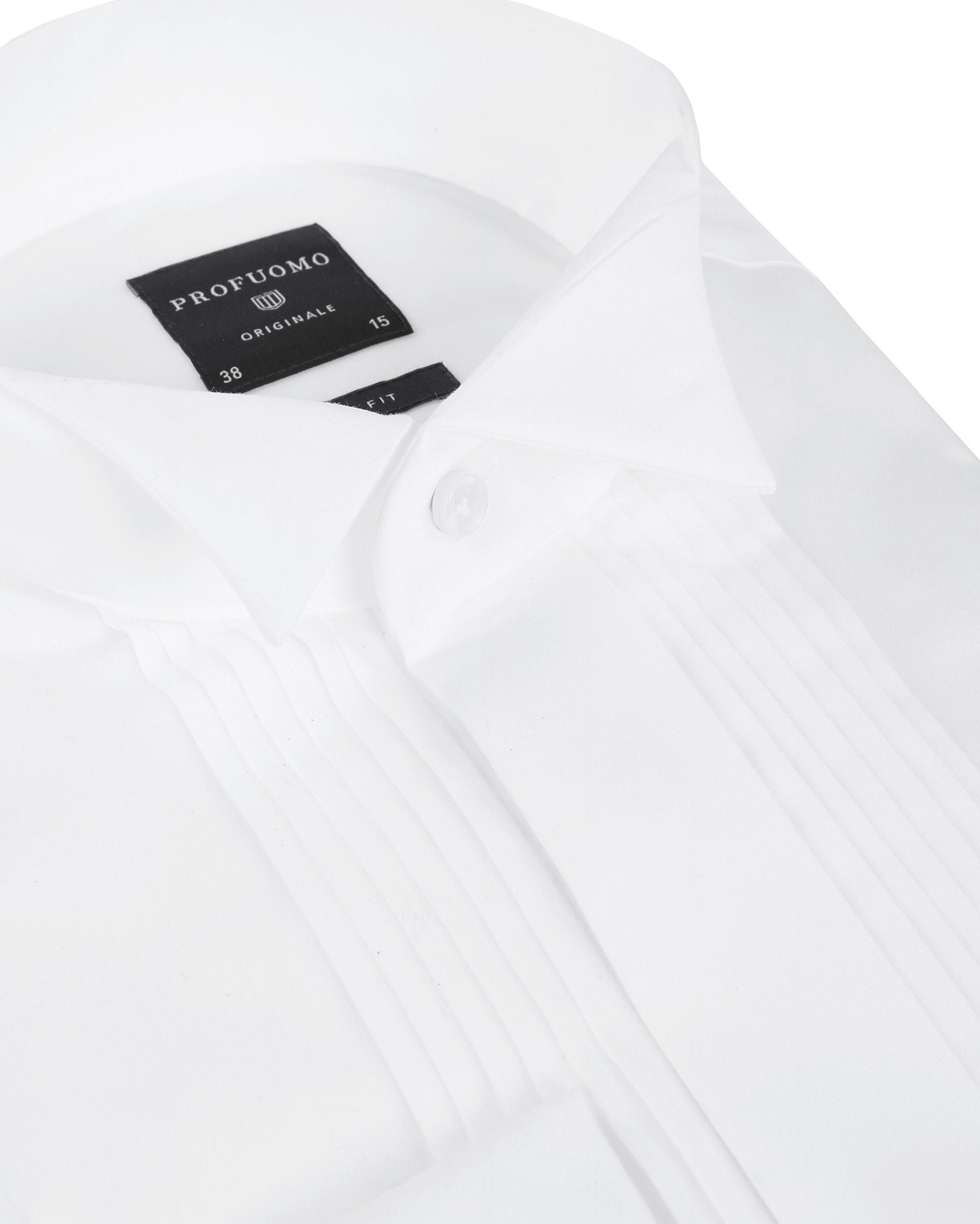 Profuomo Tuxedo Shirt Pleated Slim Fit White