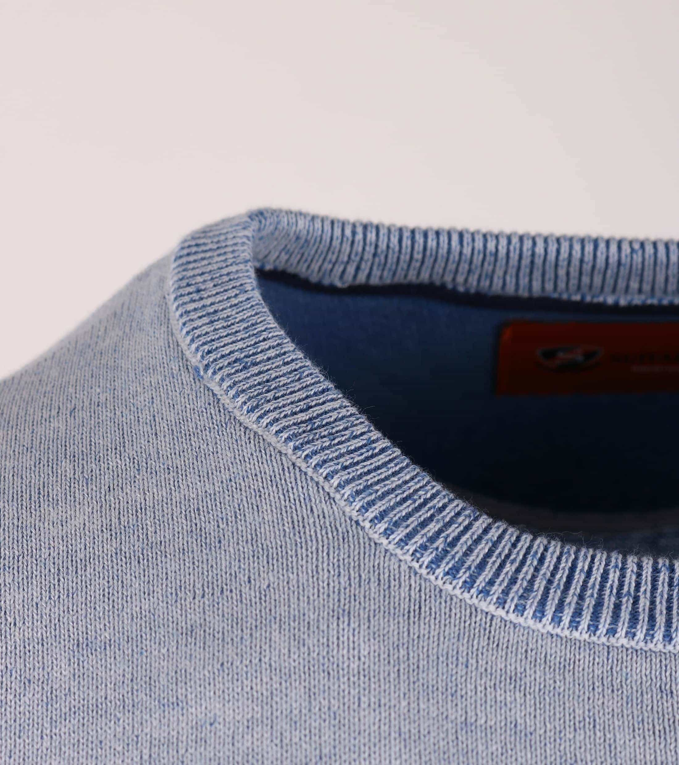 Pullover O-Hals Blau