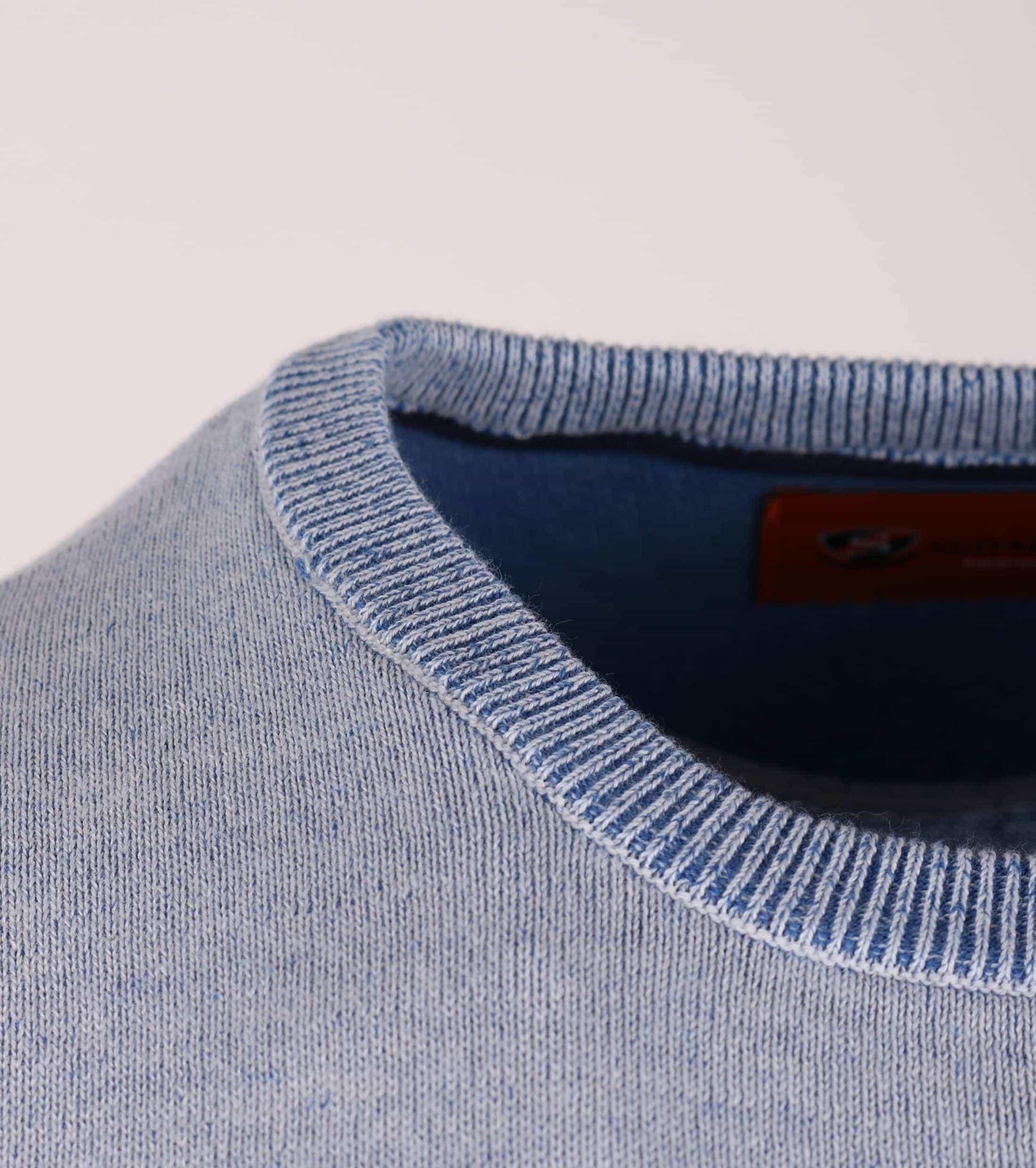 Pullover O-Hals Blauw foto 2