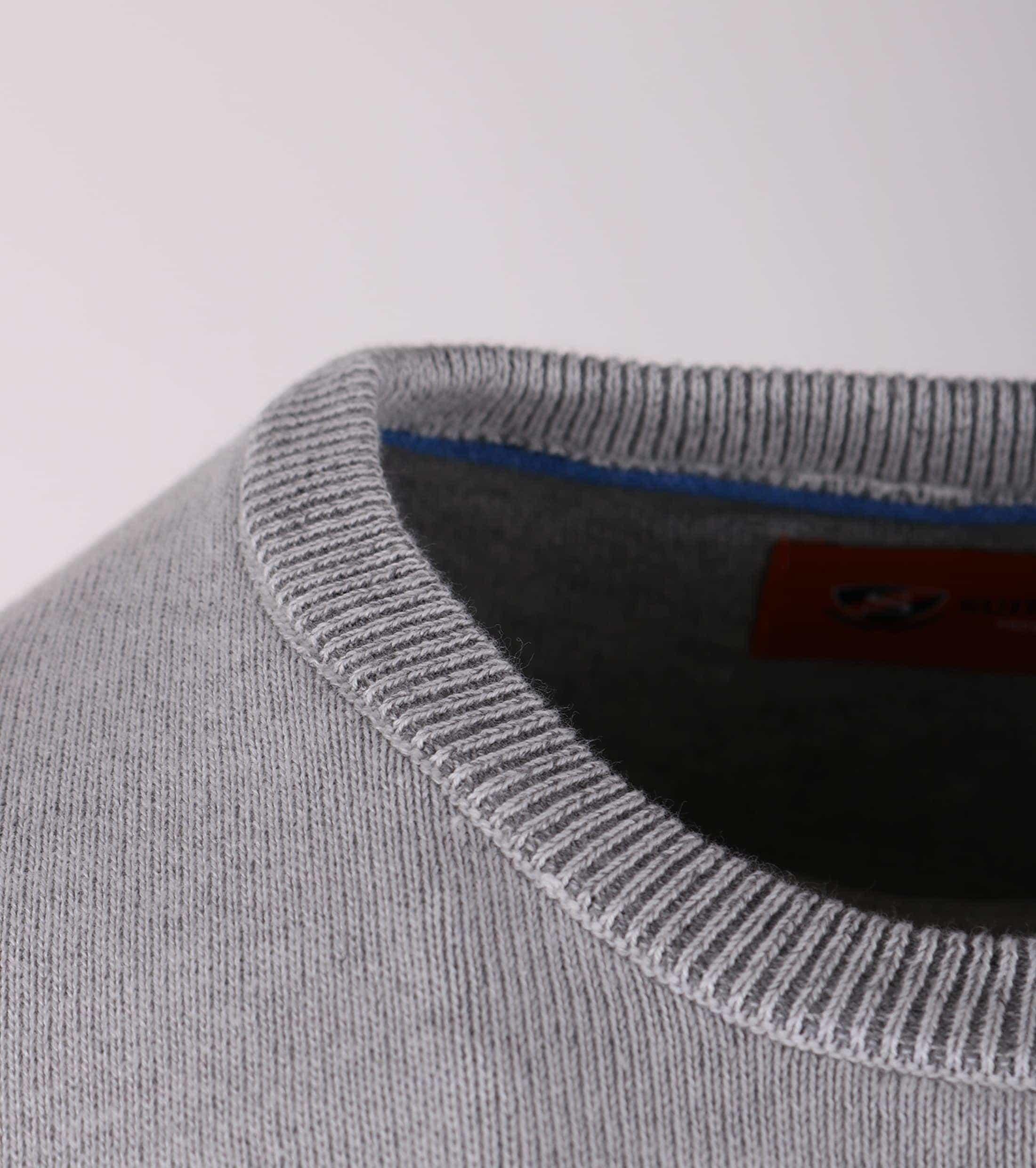 Pullover O-Hals Grijs foto 2