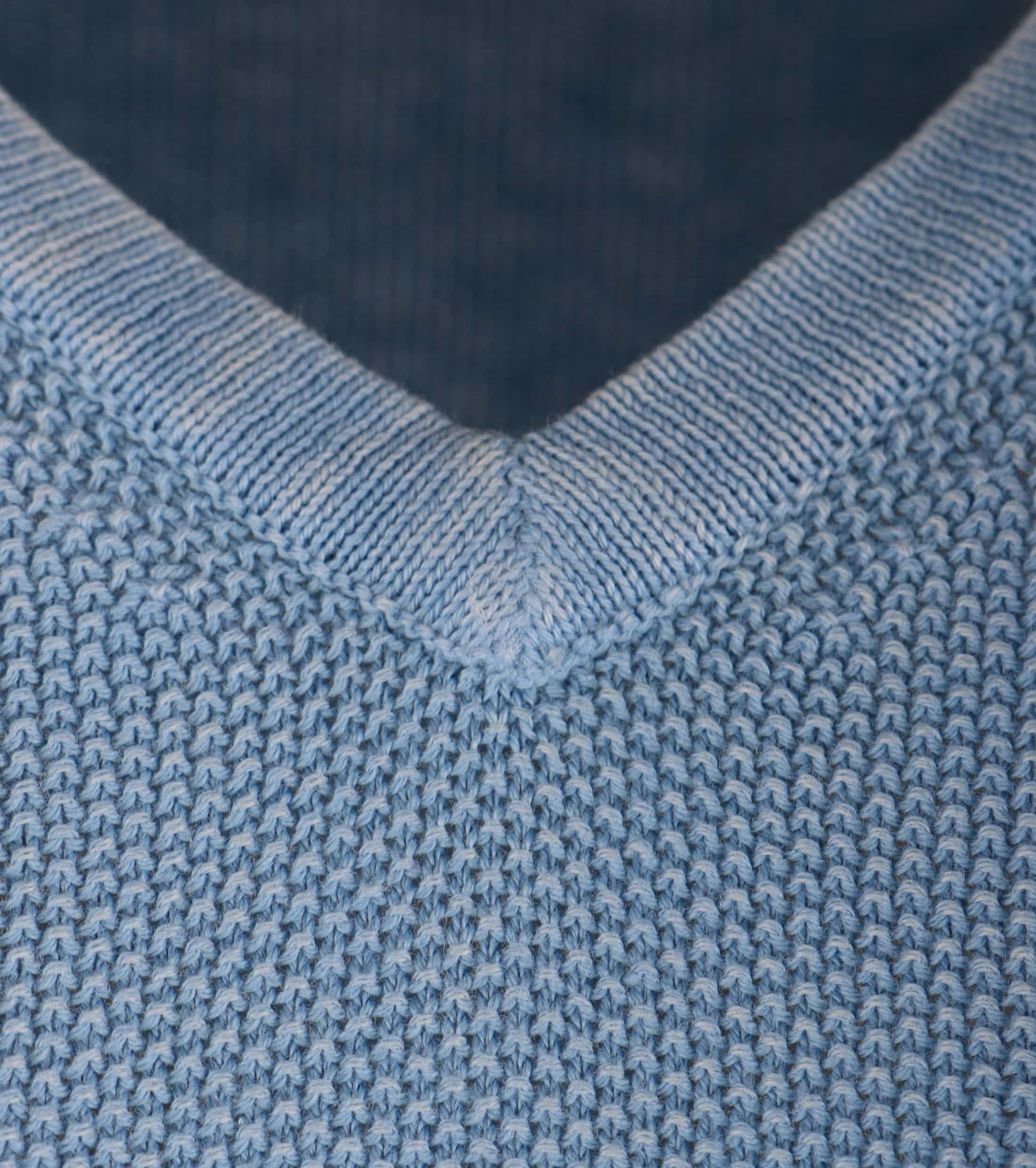 Pullover Washed Korrel Lichtblau