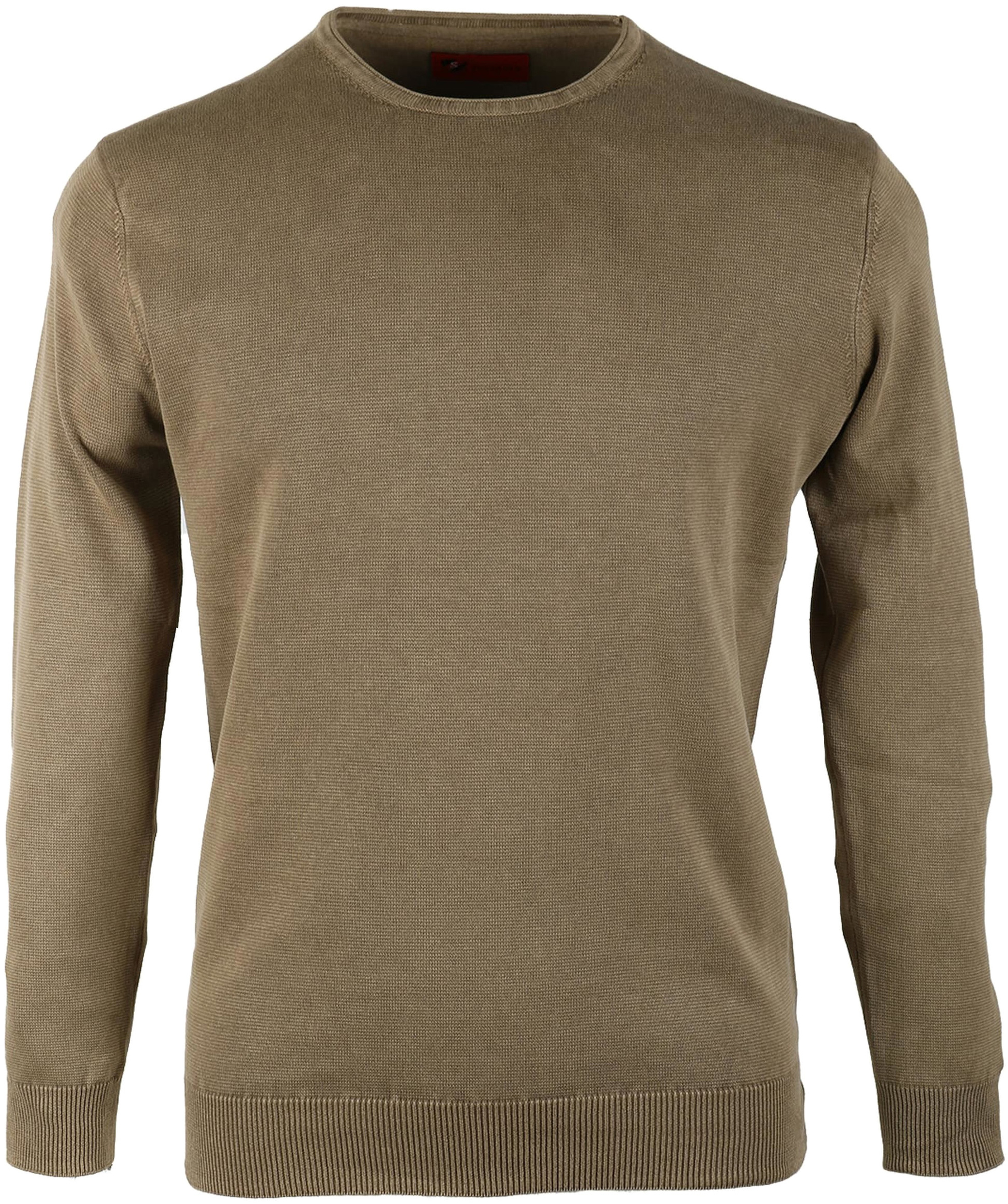 Pullover Washed Ribs Khaki foto 0