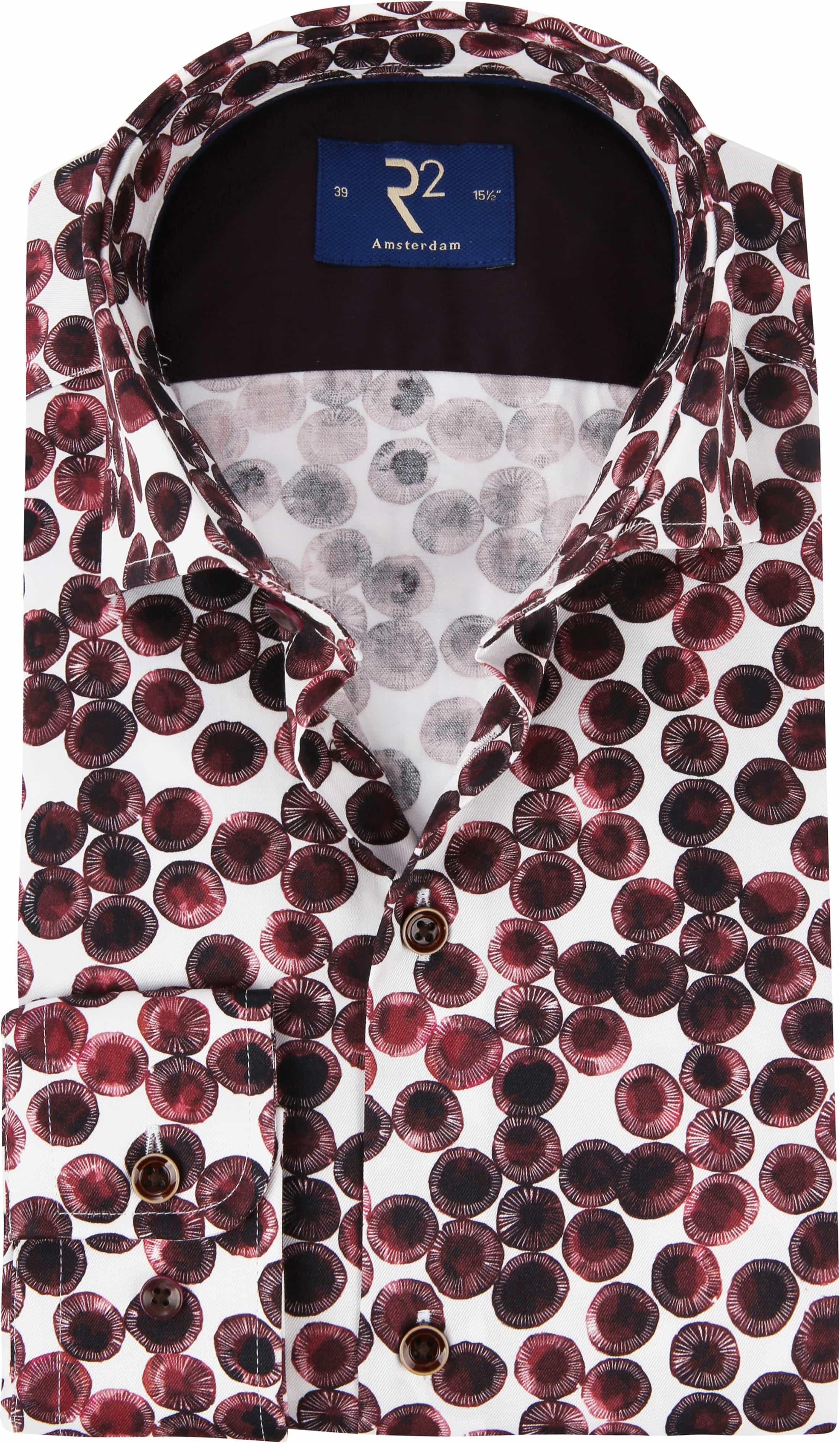 premium selection 5949a 24f0c R2 Hemd Kreis Bordeaux