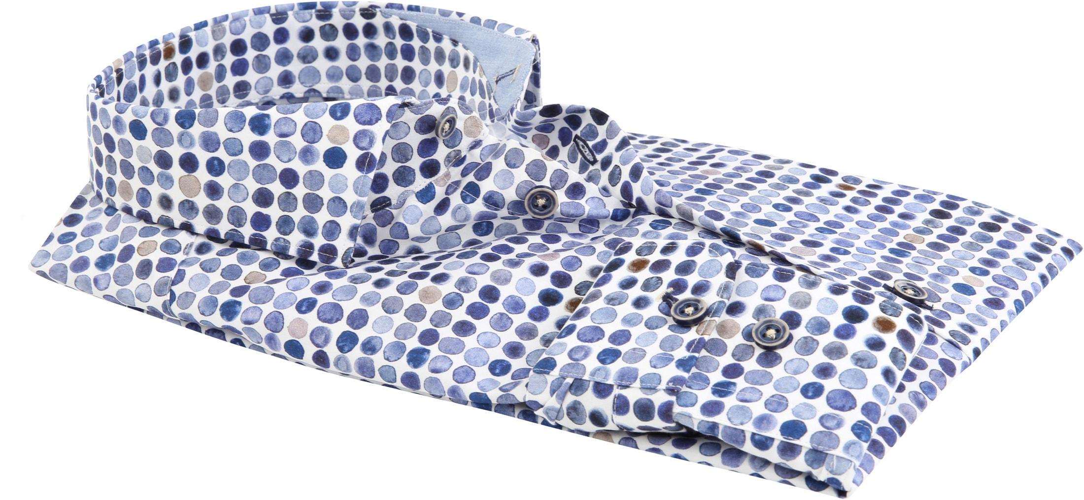 R2 Overhemd Blauw Stippen foto 3