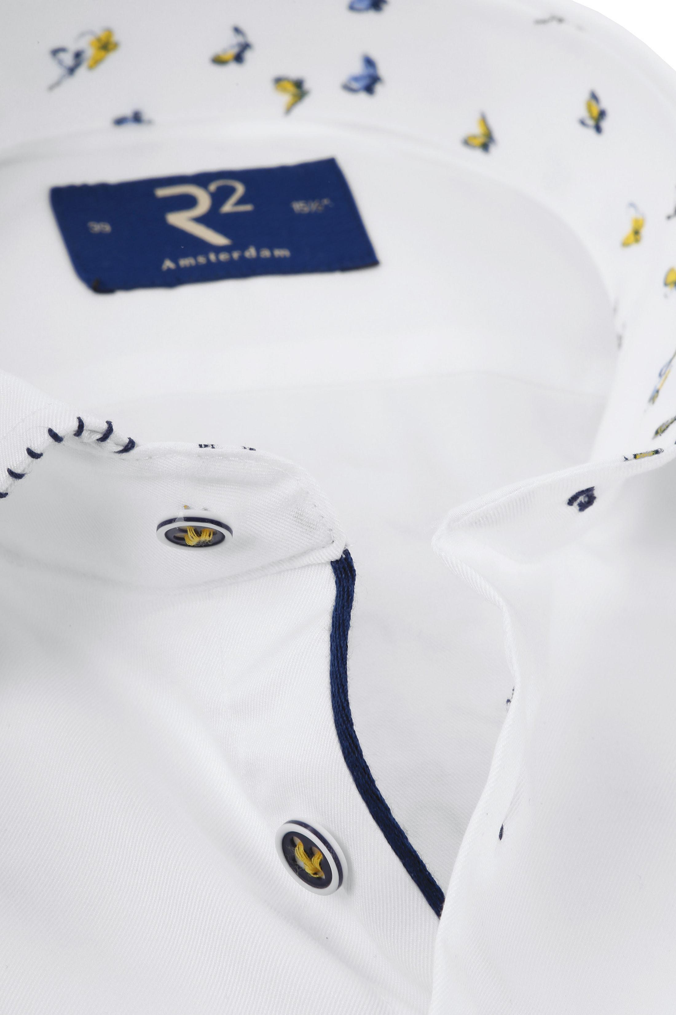 R2 Overhemd Fijne Twill Wit TF foto 1