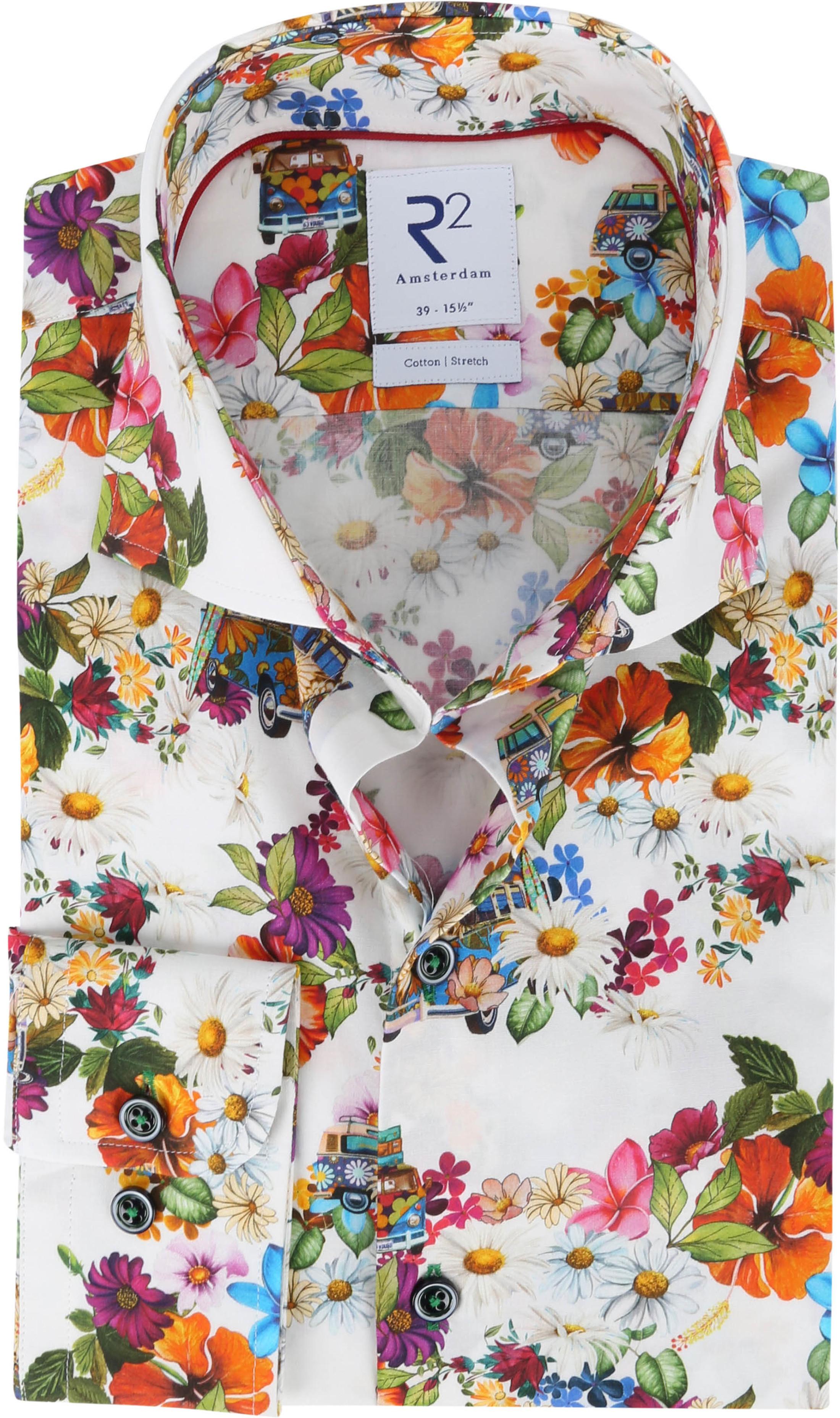 R2 Overhemd Flower Power Multicolour
