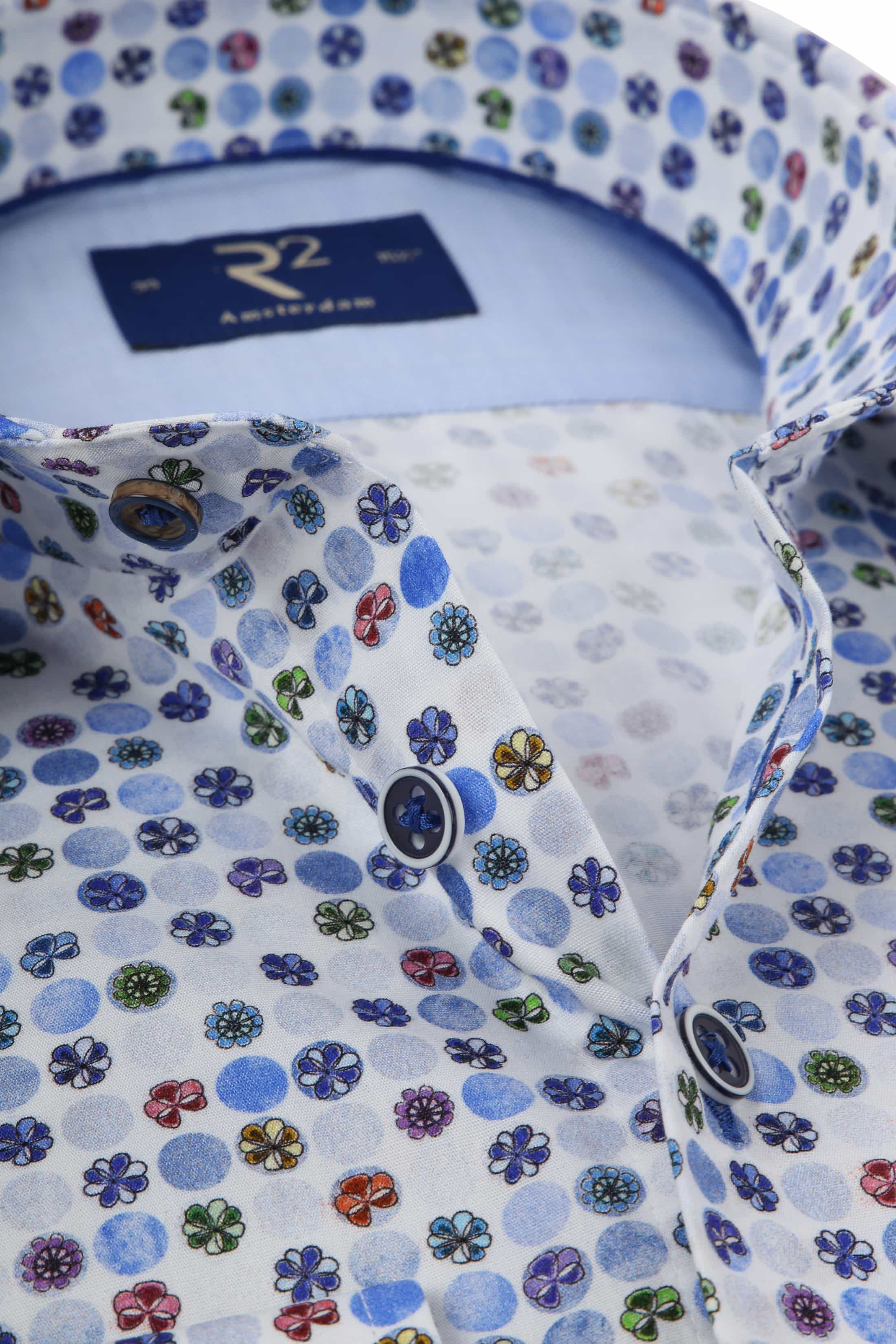 R2 Overhemd Gekleurde Bloemen foto 1