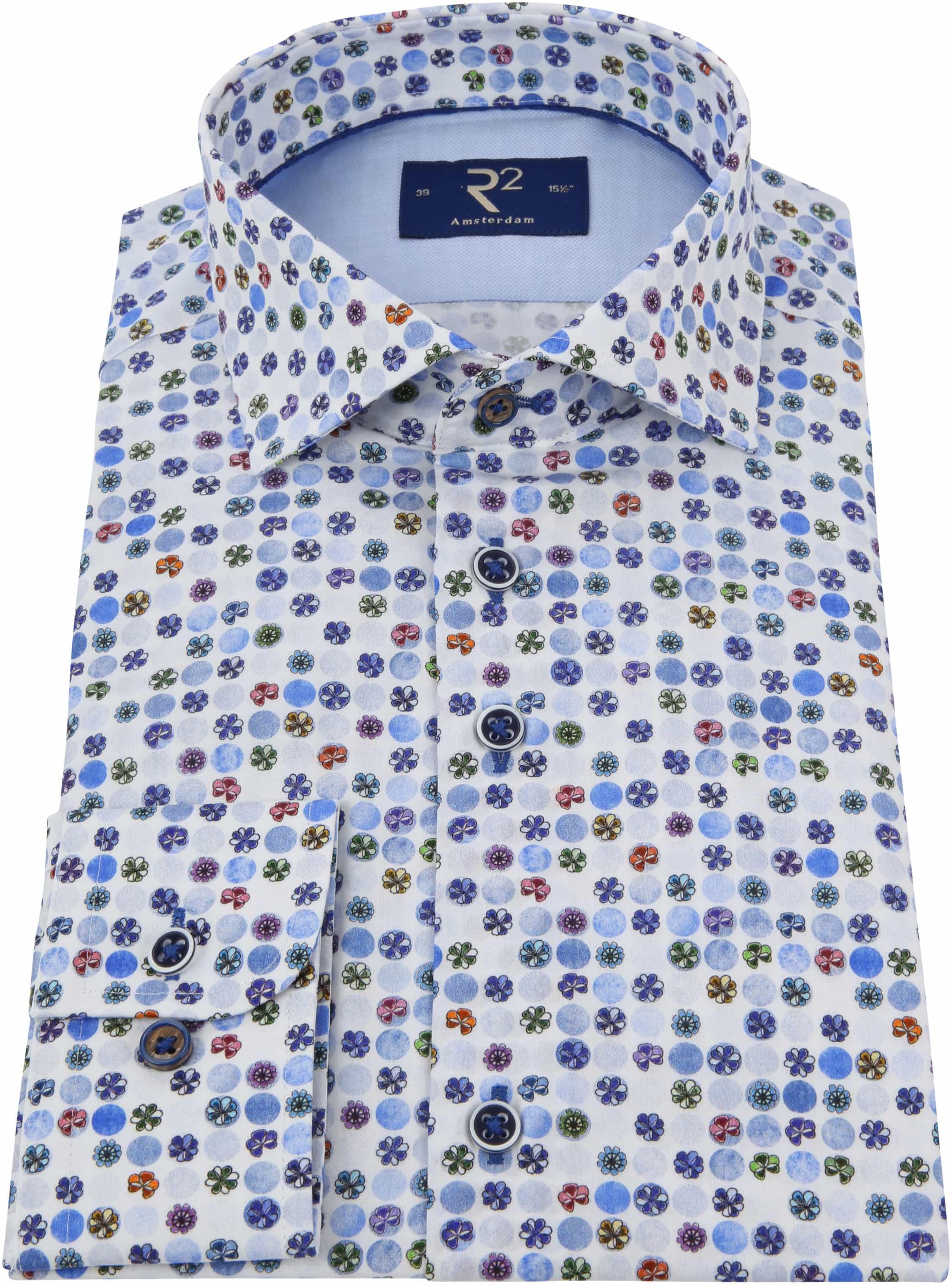 R2 Overhemd Gekleurde Bloemen foto 2