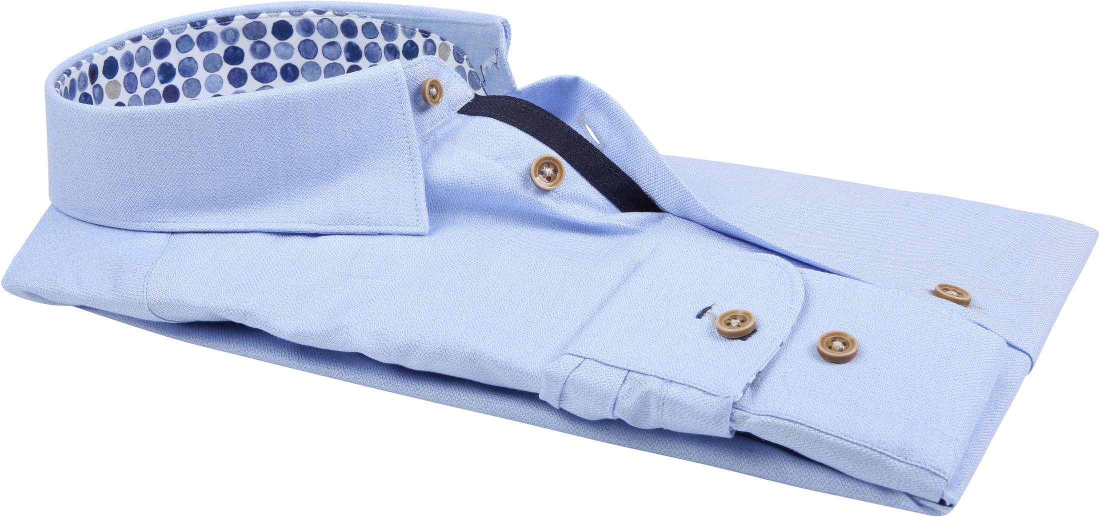 R2 Overhemd Mouline Lichtblauw foto 3