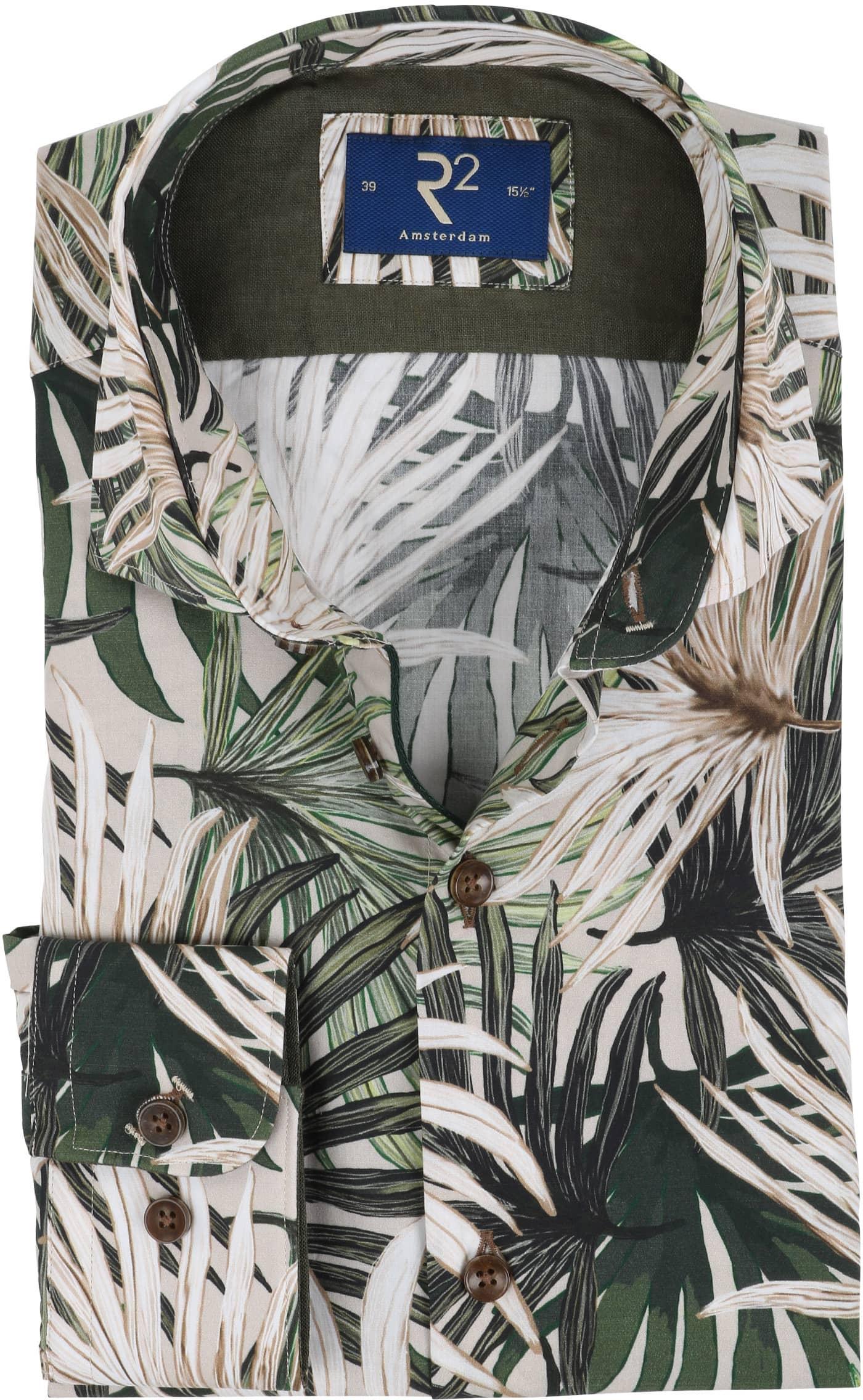 R2 Overhemd Palmblad Groen foto 0