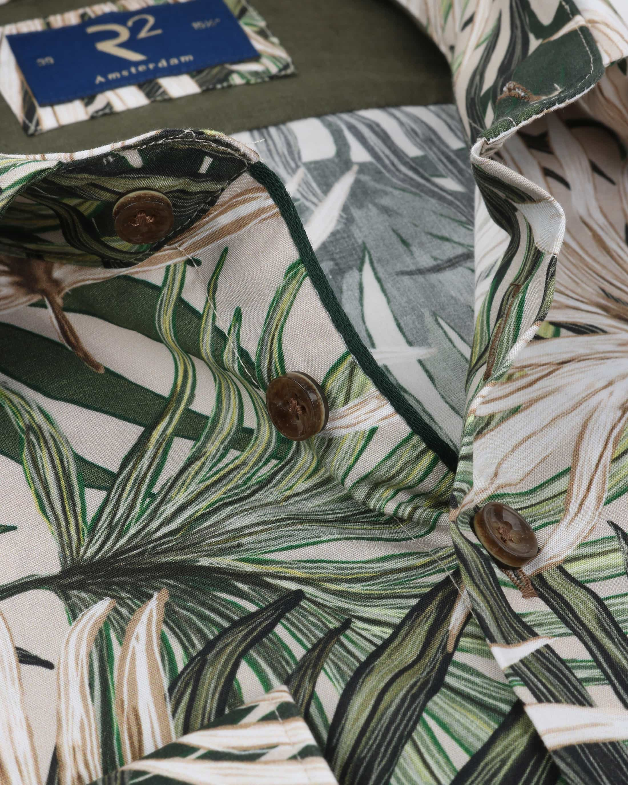R2 Overhemd Palmblad Groen foto 1