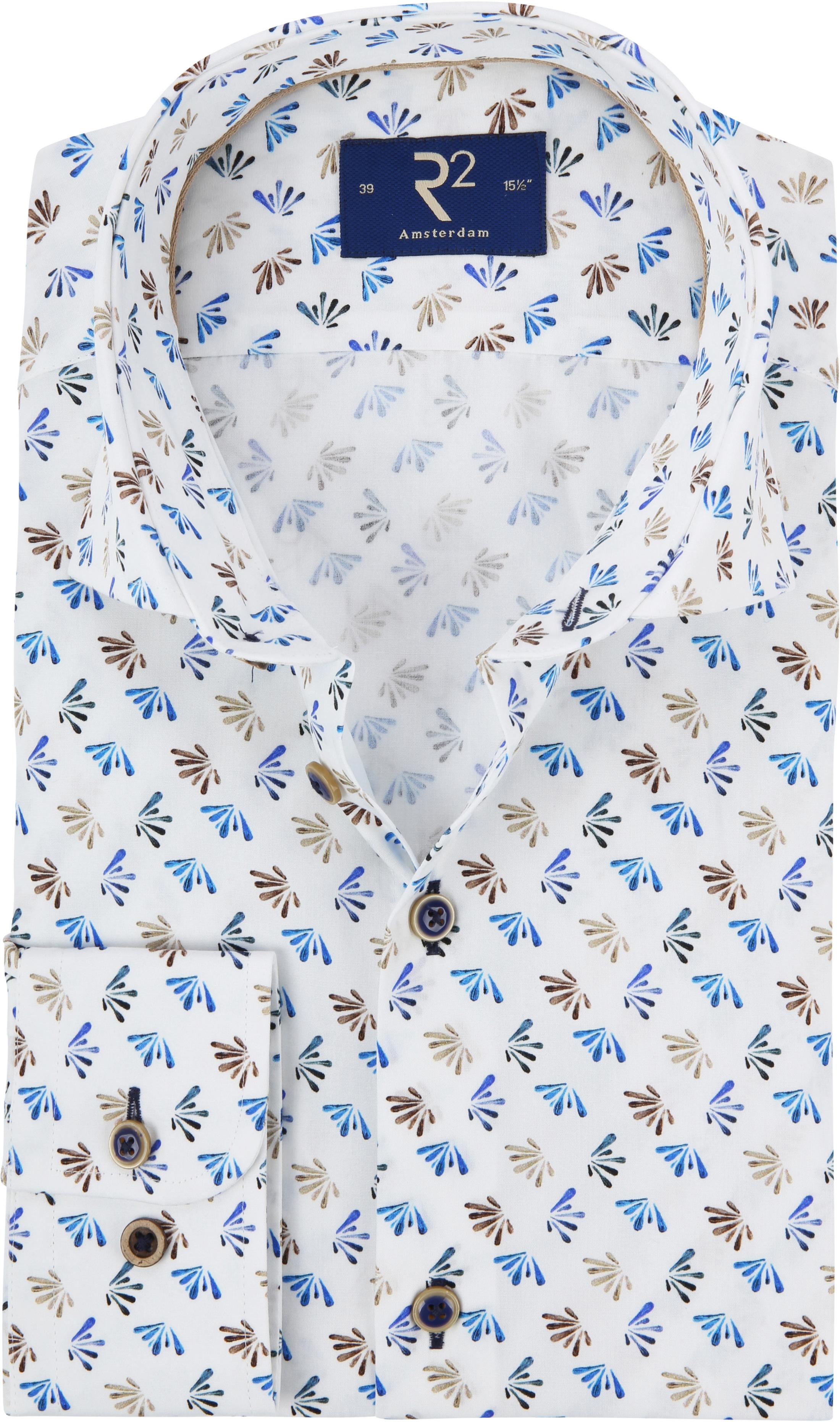 R2 Overhemd Poplin Blue foto 0