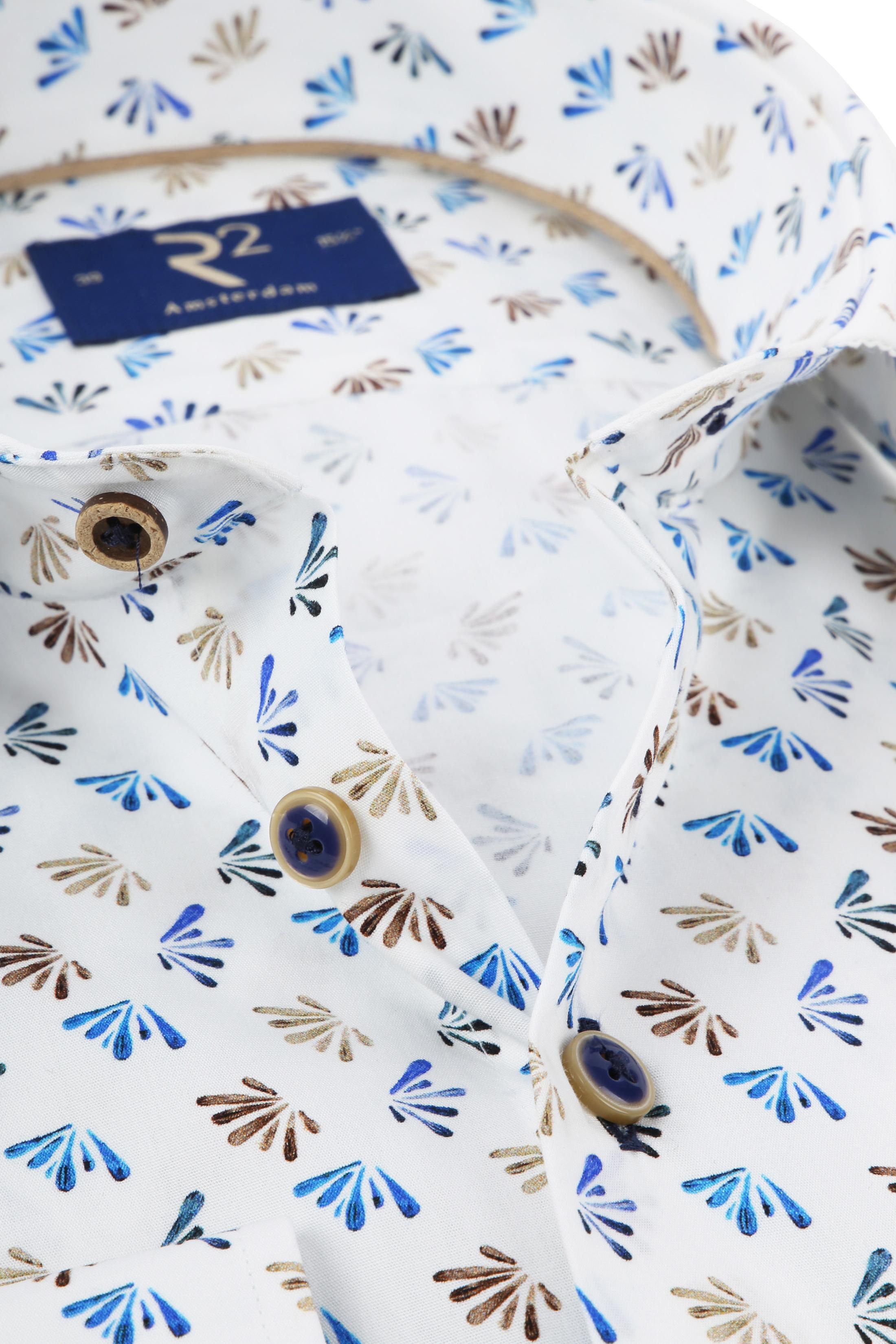 R2 Overhemd Poplin Blue foto 1