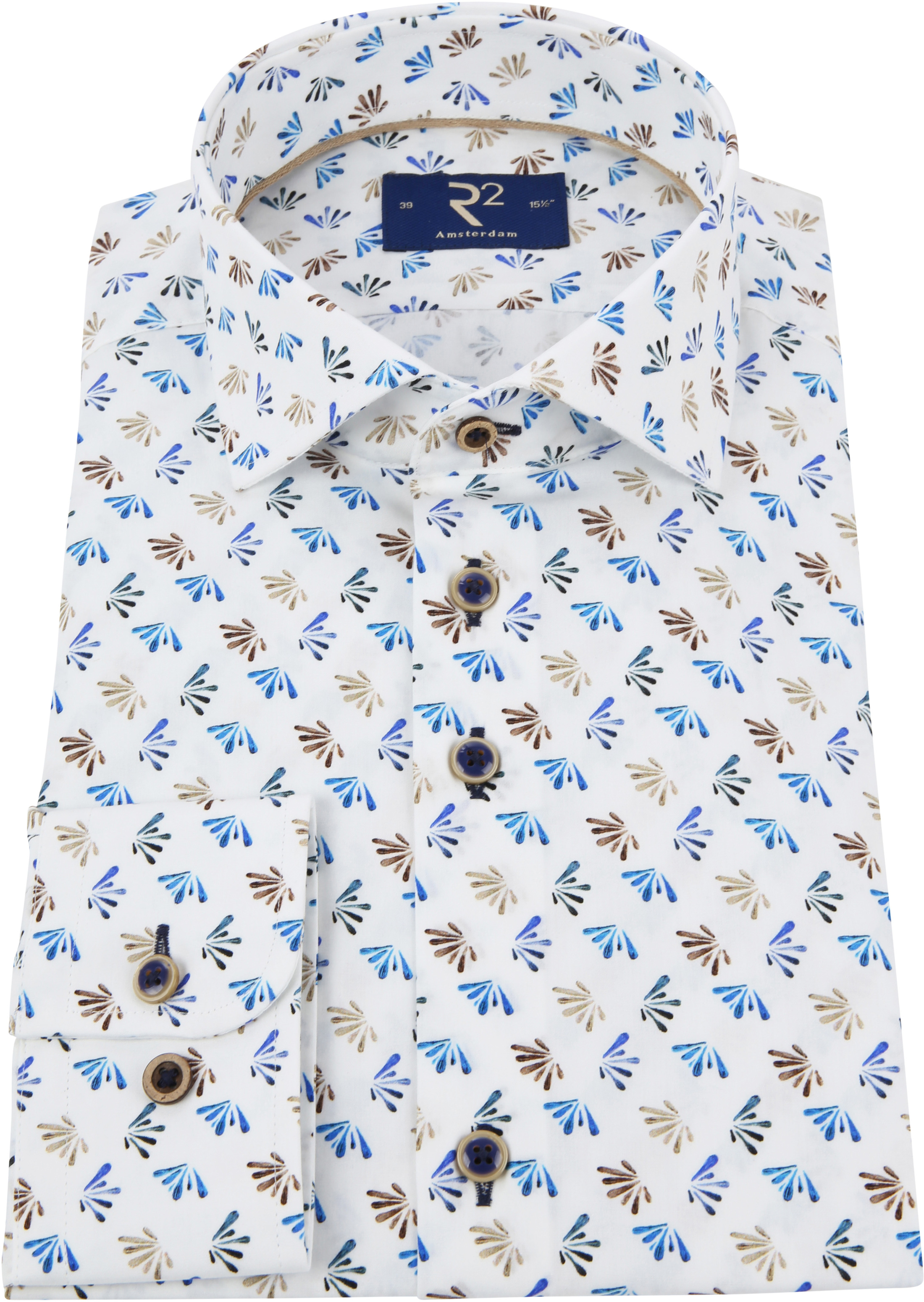 R2 Overhemd Poplin Blue foto 2