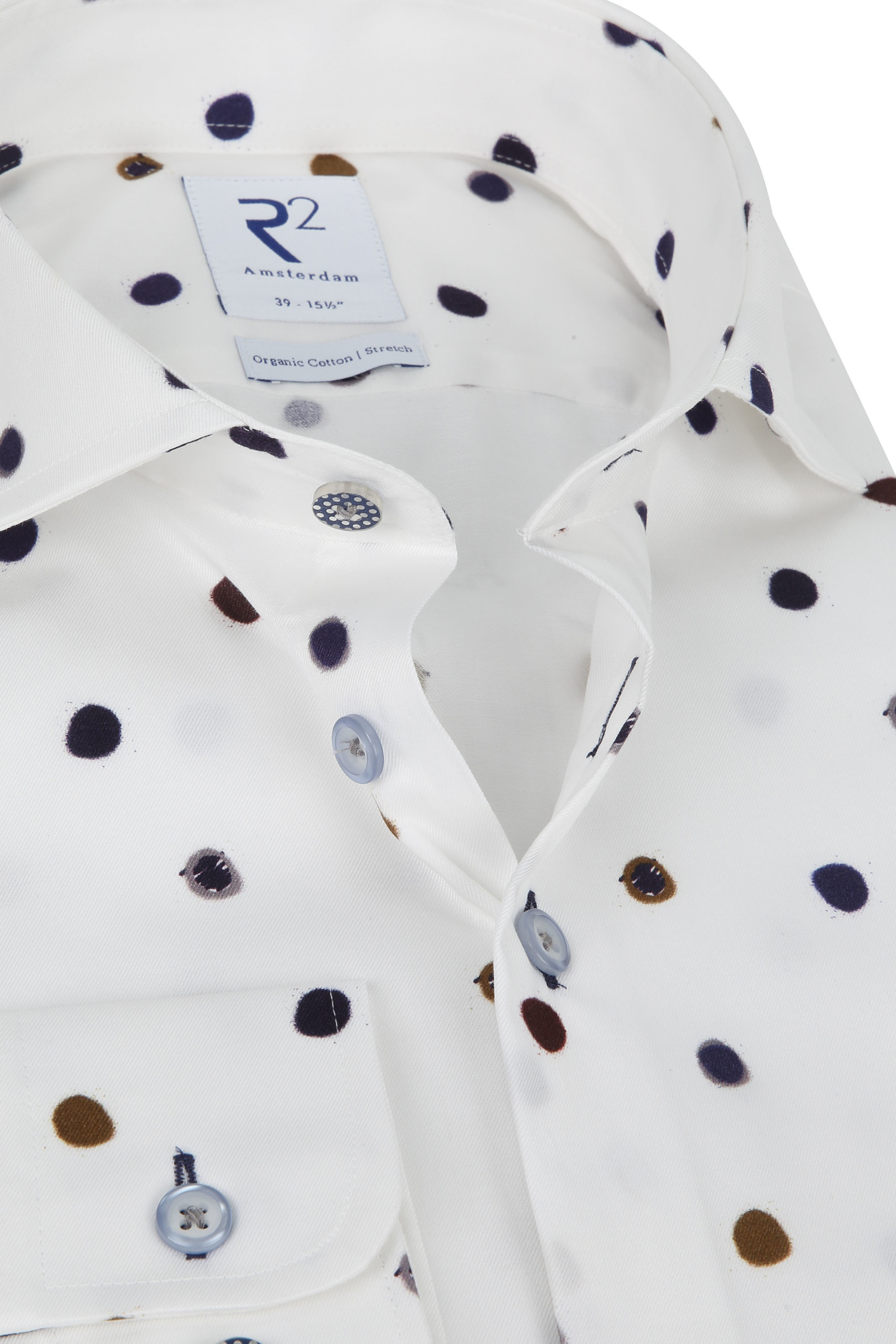 R2 Overhemd Stippen - Multicolour maat 38