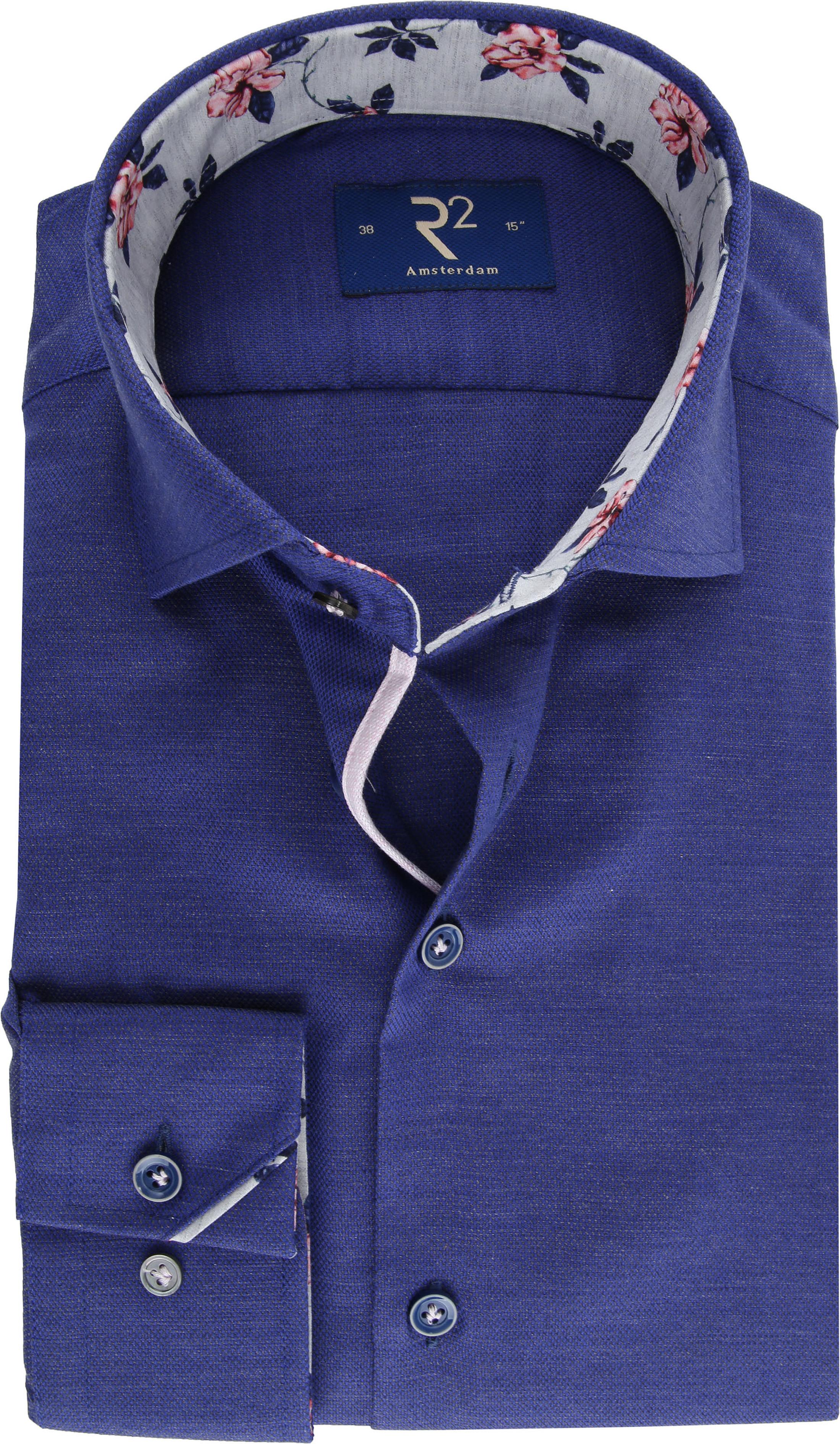 R2 Overhemd Uni Blauw foto 0