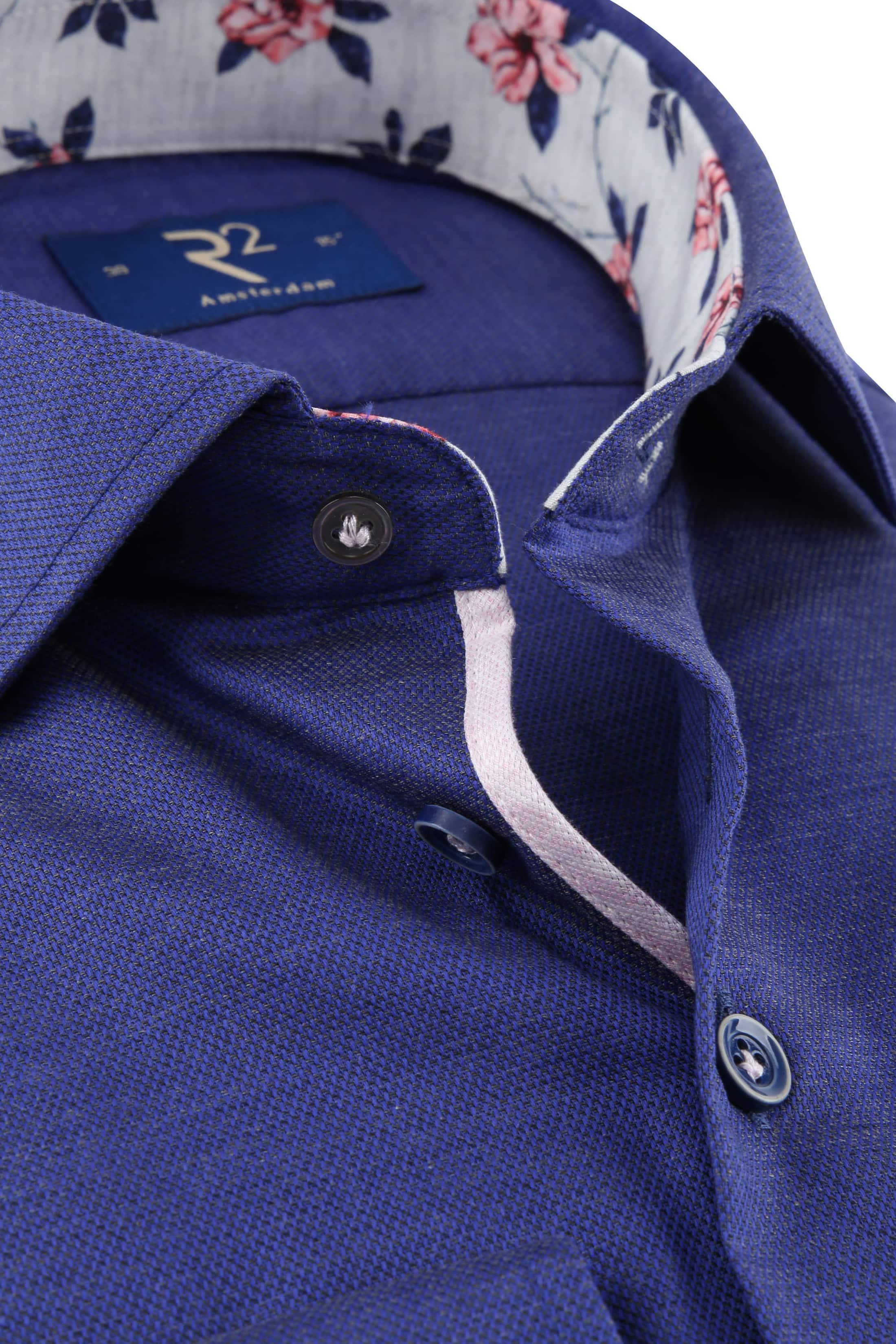 R2 Overhemd Uni Blauw foto 1