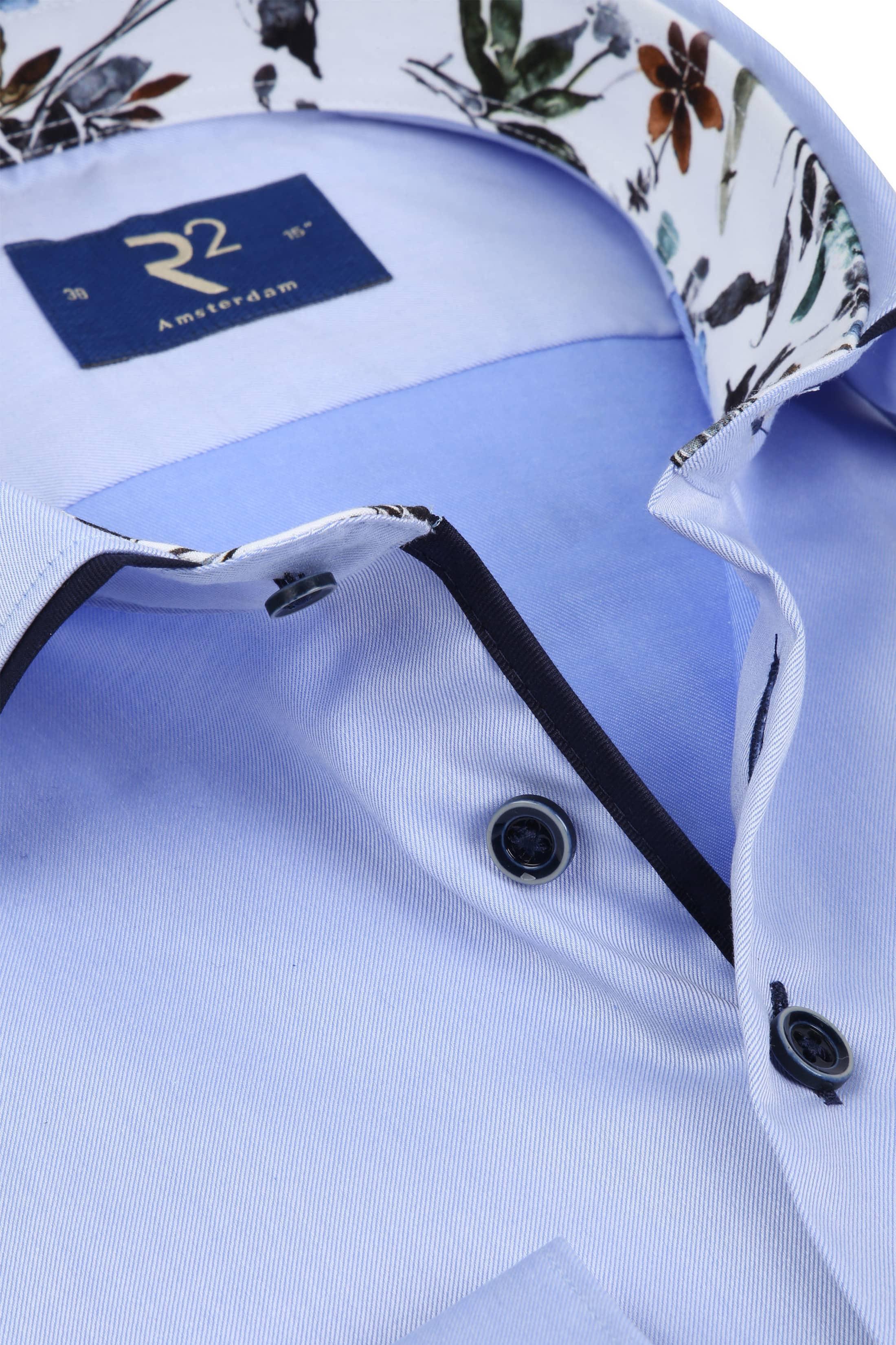 R2 Overhemd Uni Lichtblauw foto 1