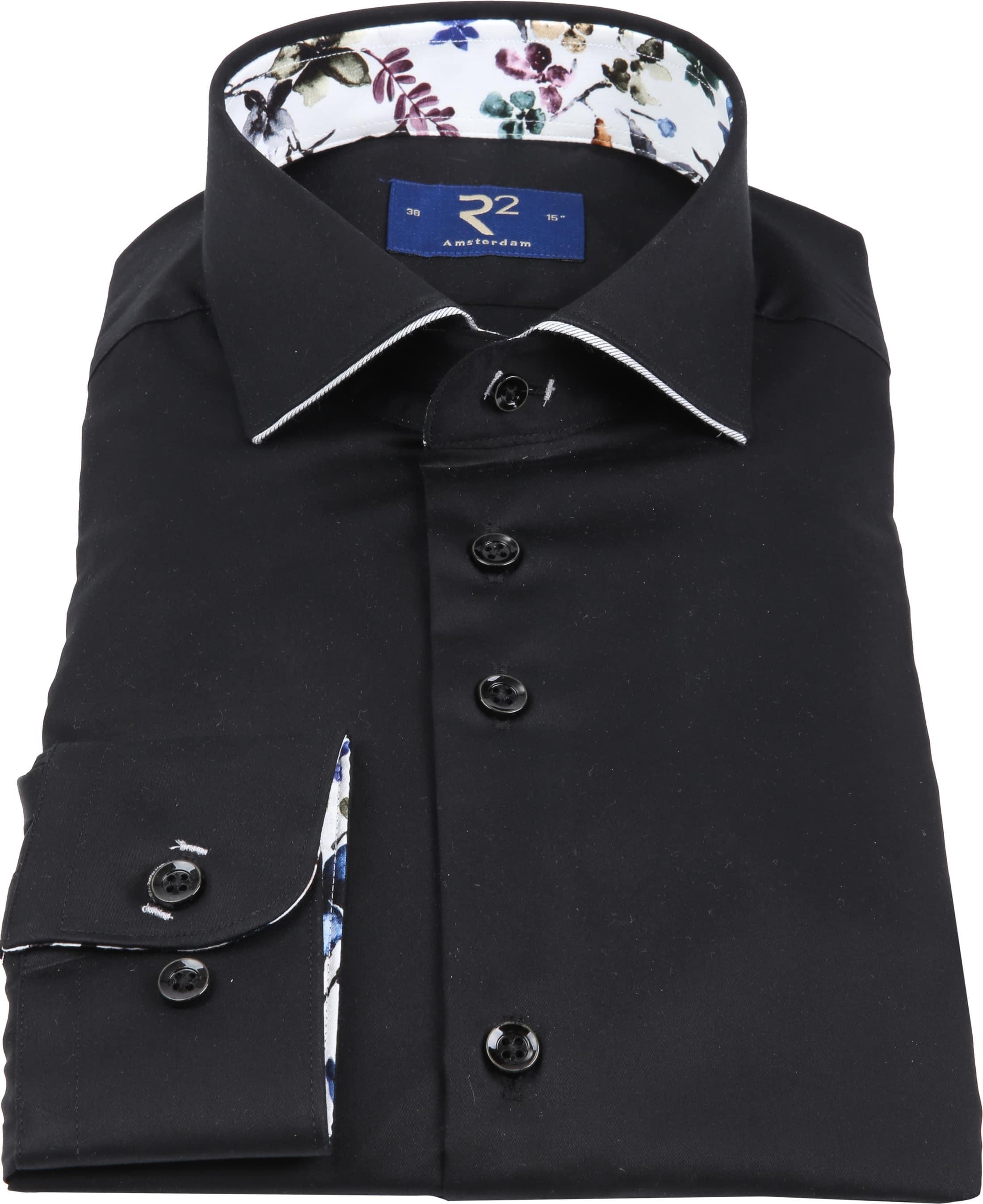 R2 Overhemd Uni Zwart foto 2