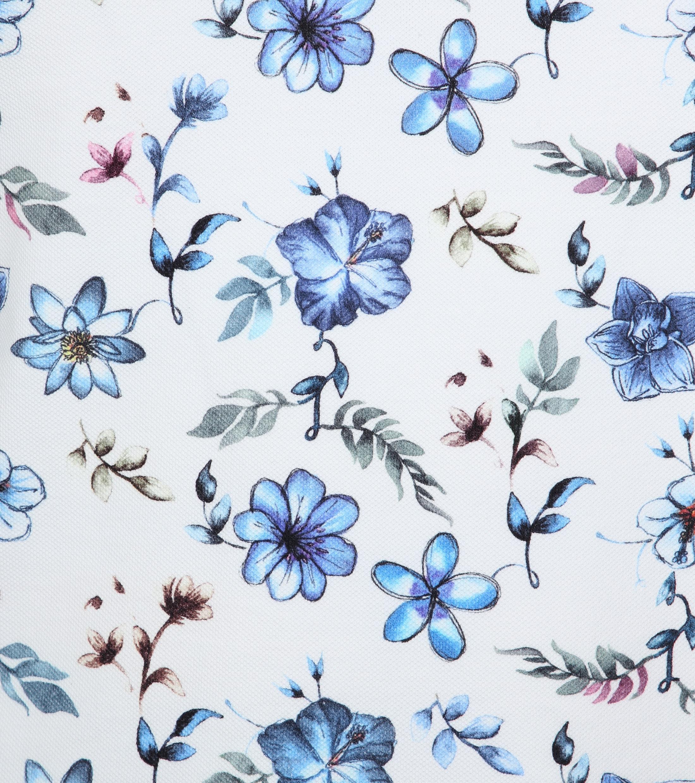 R2 Poloshirt Piquet Flowers Blue foto 2