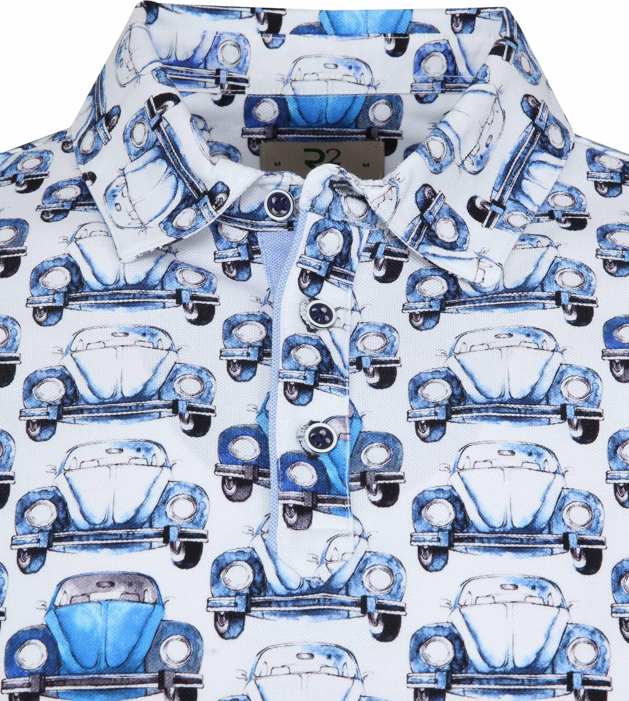 R2 Poloshirt Piquet Kever Blauw foto 1
