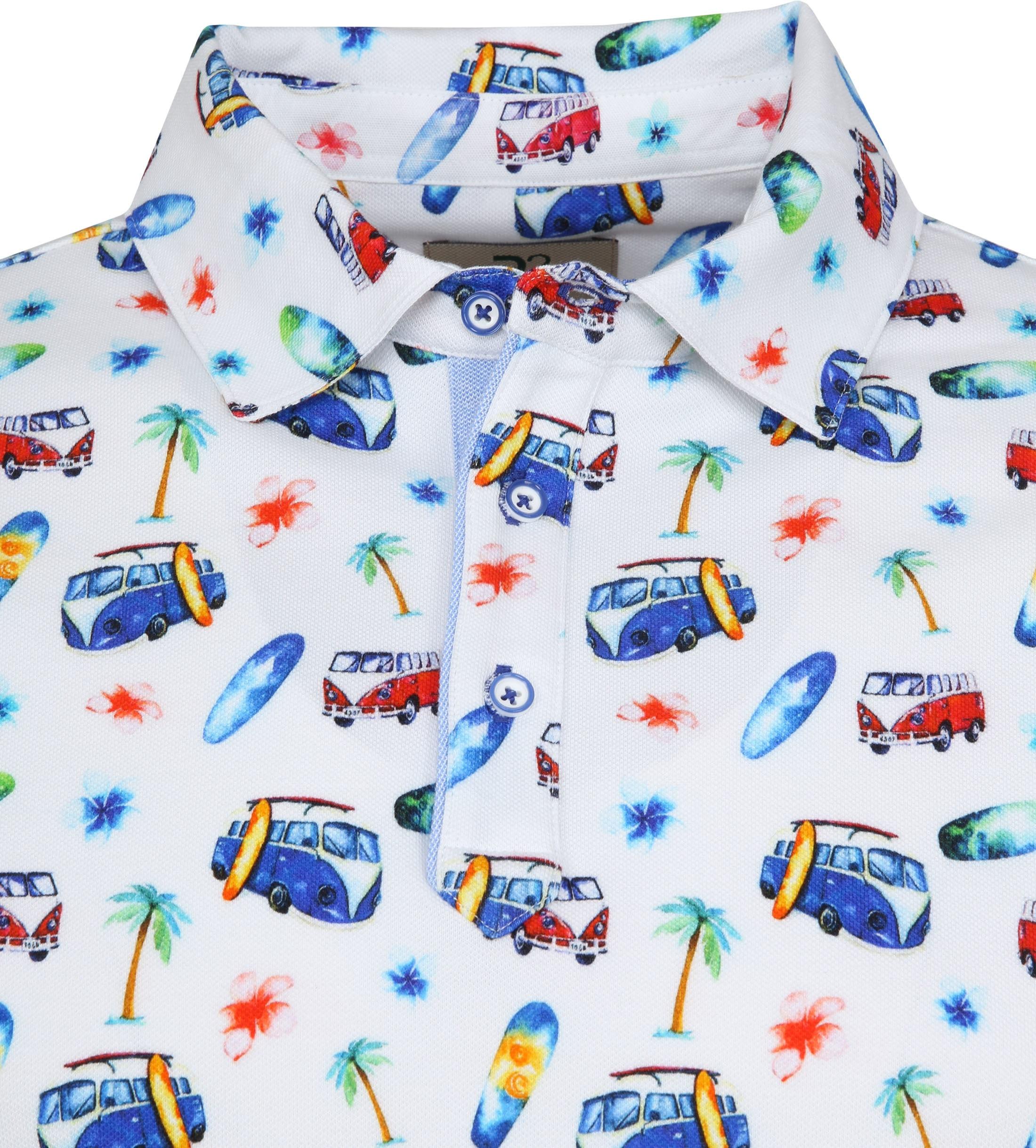 R2 Poloshirt Piquet Multicolour foto 1