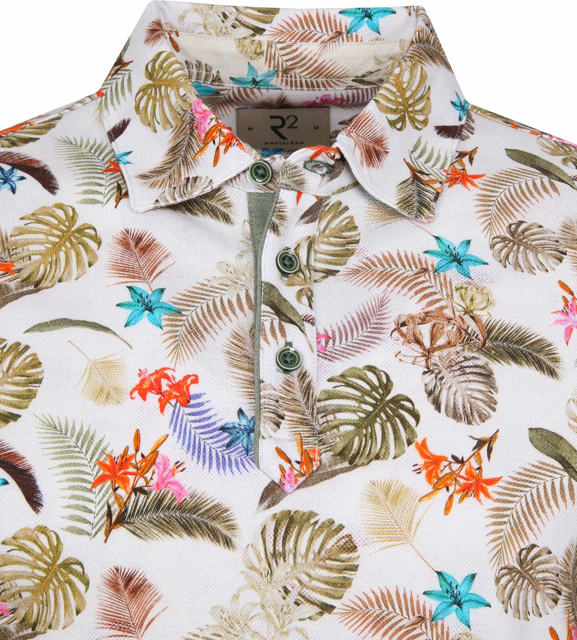 R2 Poloshirt Piquet Multicolour  Jungle foto 1