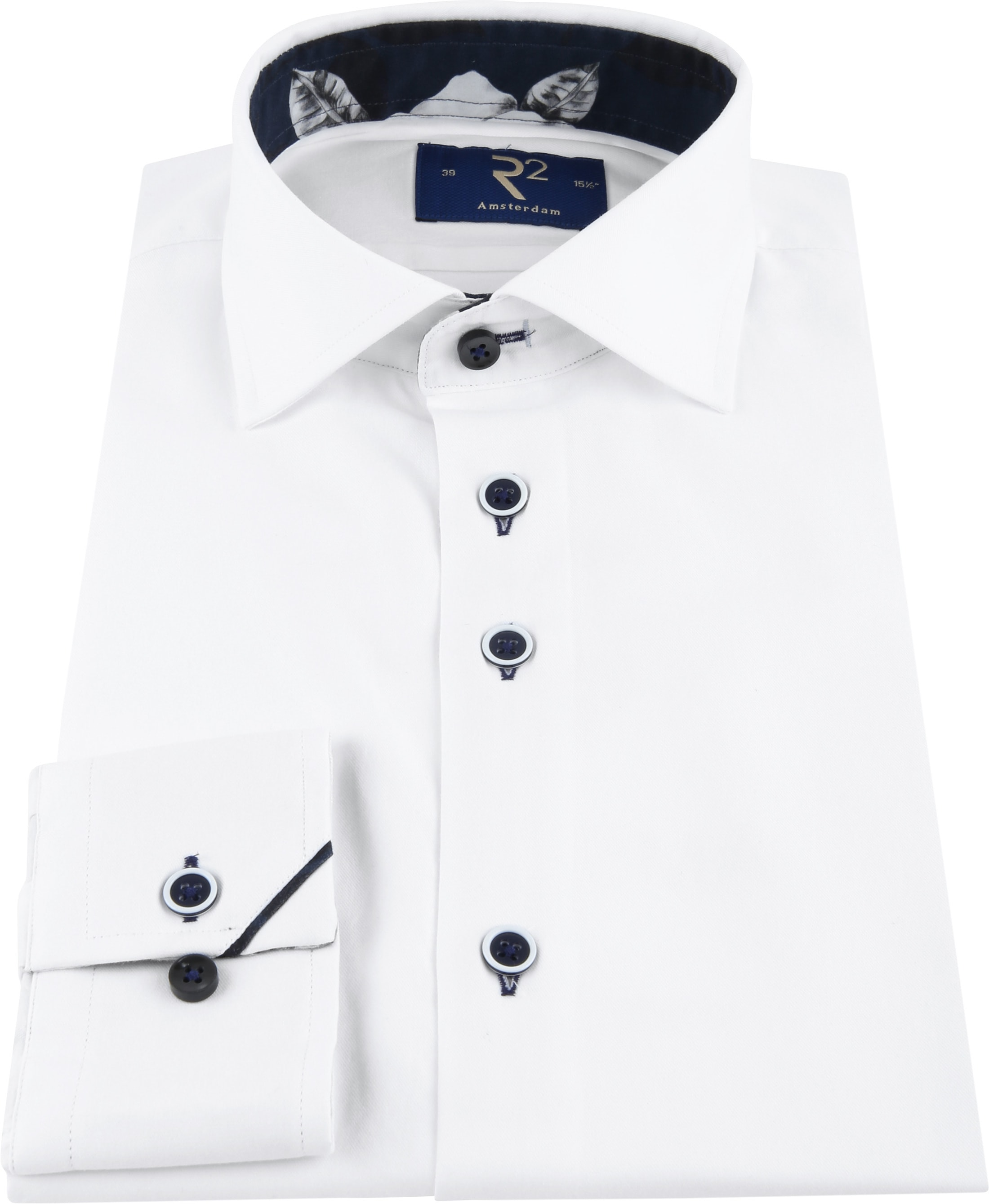 R2 Shirt Uni Navy Flower White photo 2