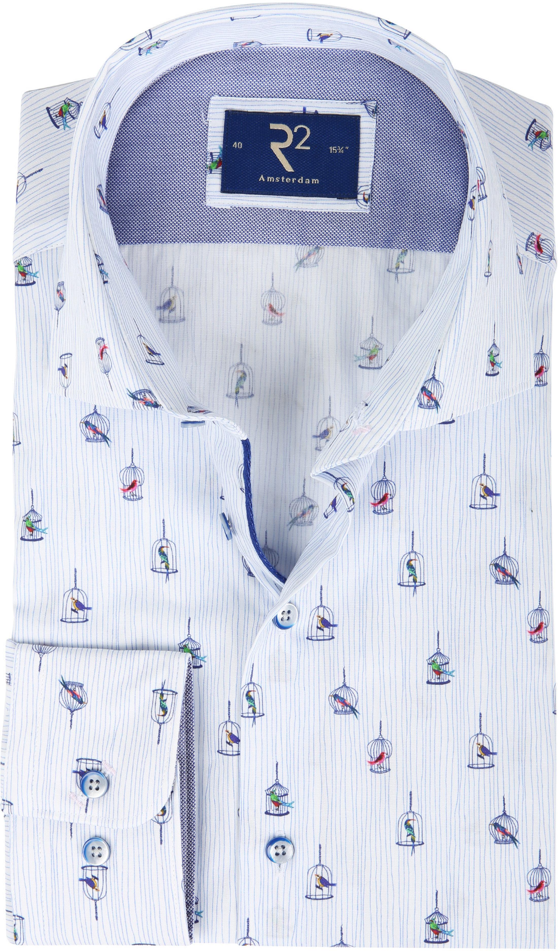 R2 Shirt Vogelkooi Blauw foto 0