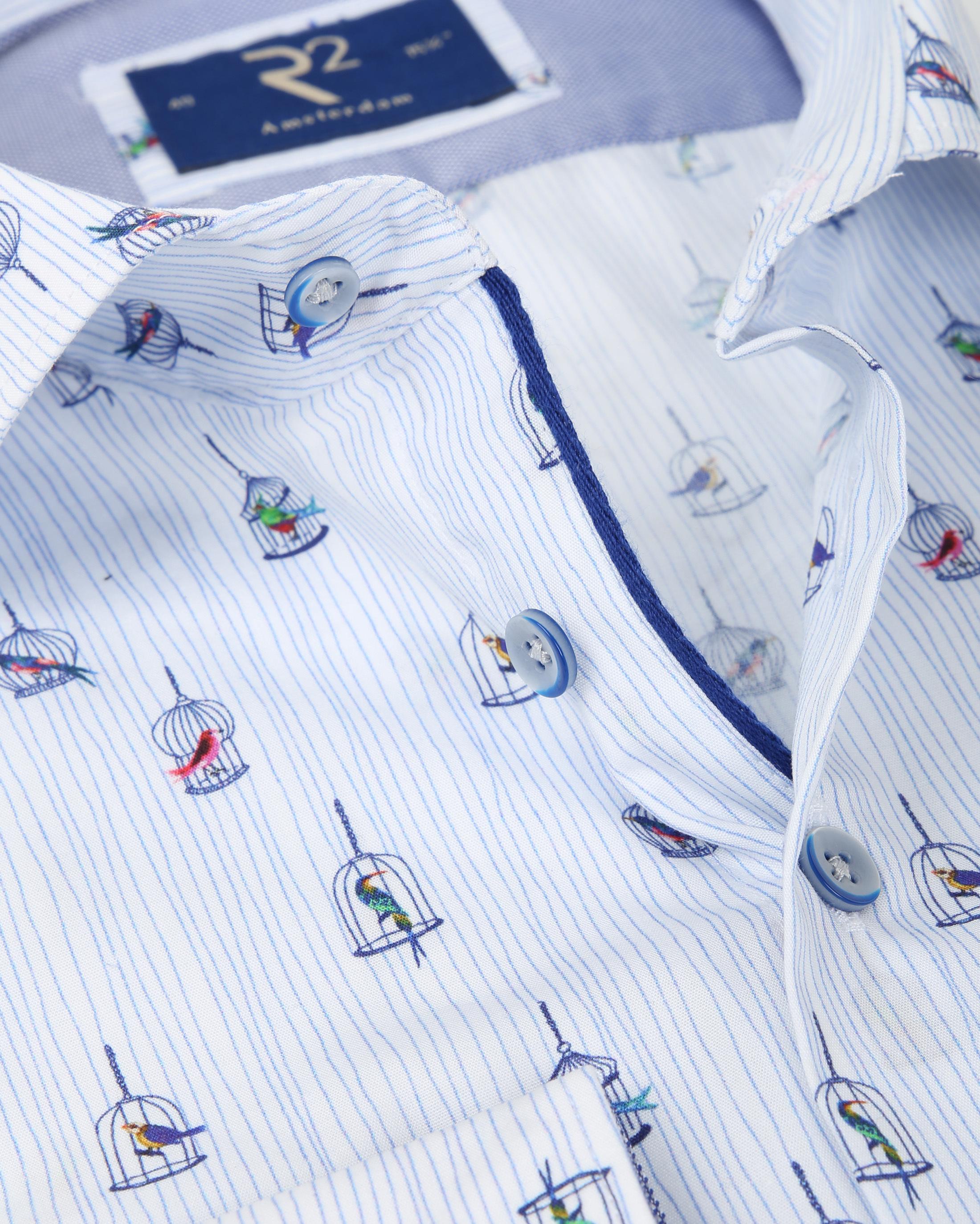R2 Shirt Vogelkooi Blauw foto 1
