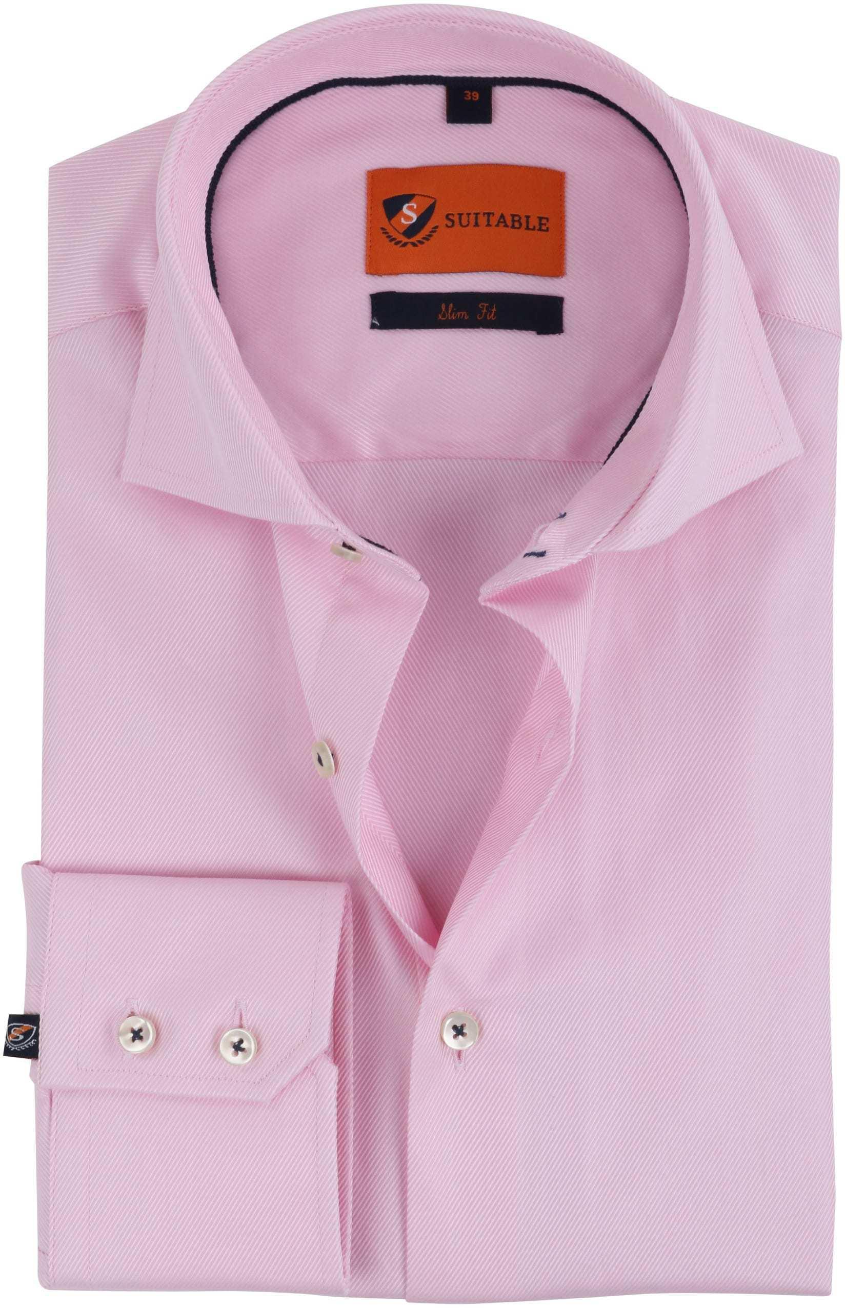 Rosa Geschäfts Hemd foto 0