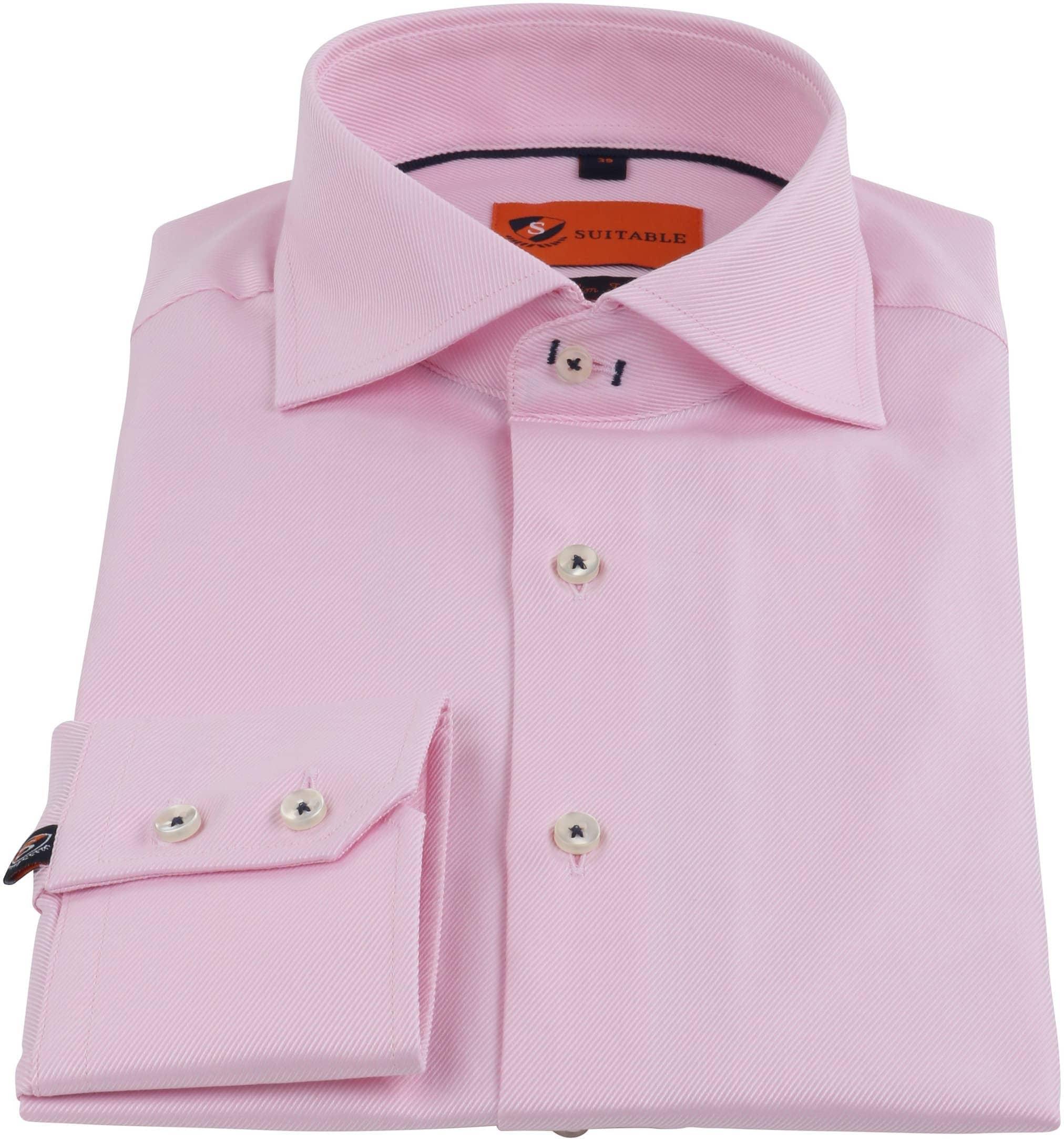 Rosa Geschäfts Hemd foto 2
