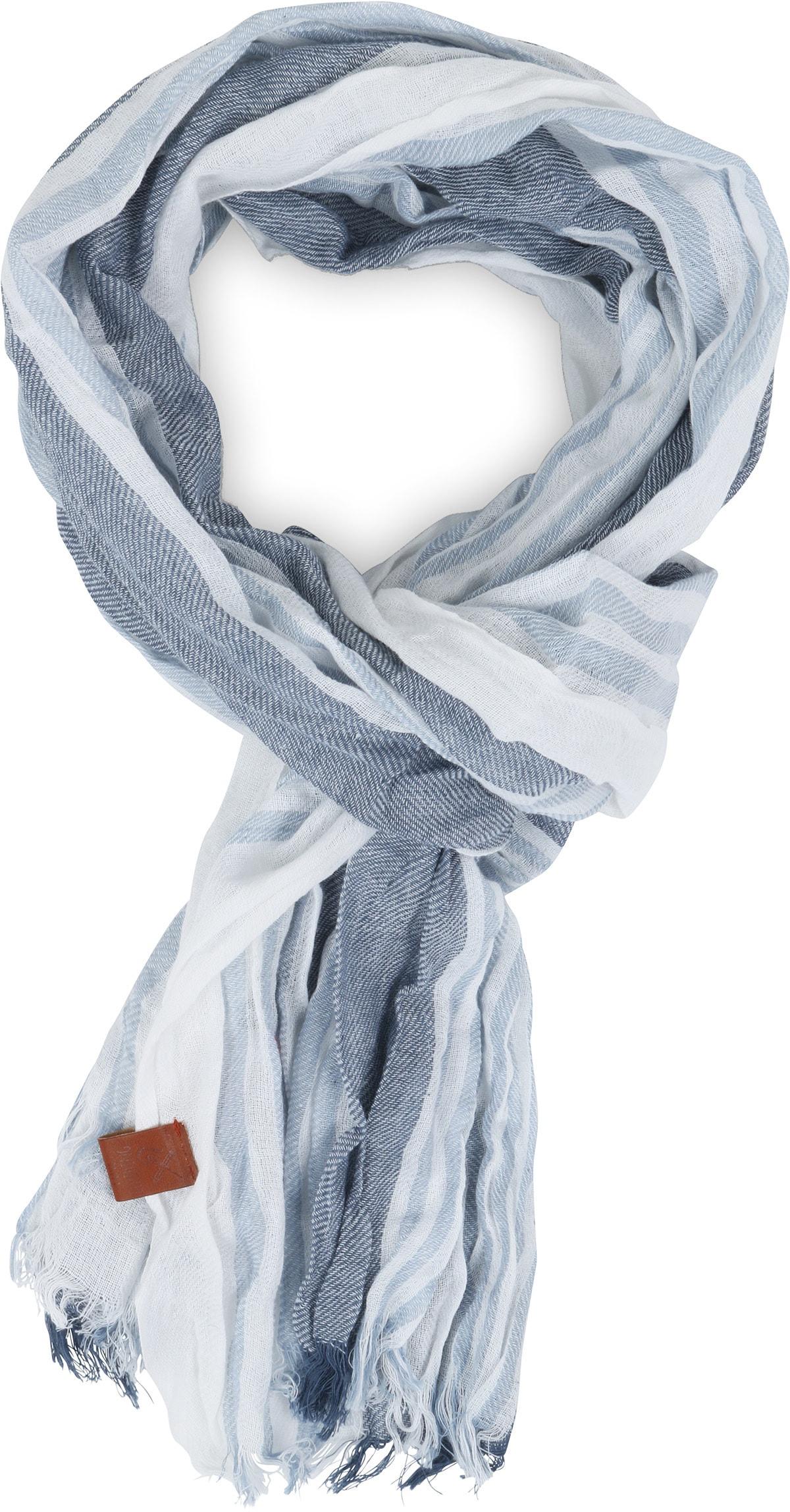 Sarlini Schal Streifen Blau foto 0