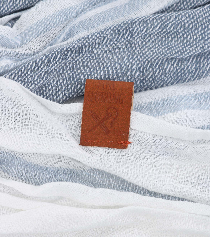 Sarlini Schal Streifen Blau foto 1