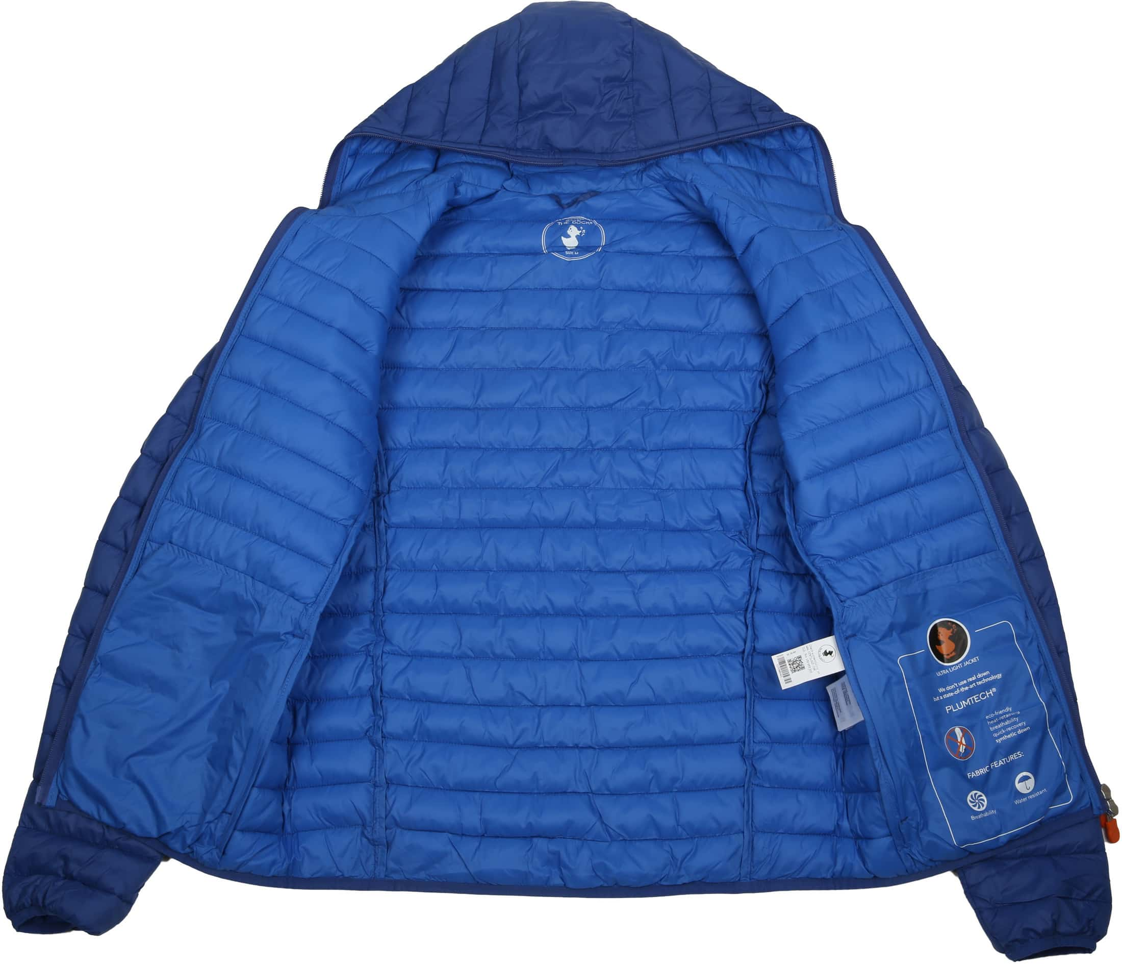 Save the Duck Jas Giga Hooded Blauw foto 5