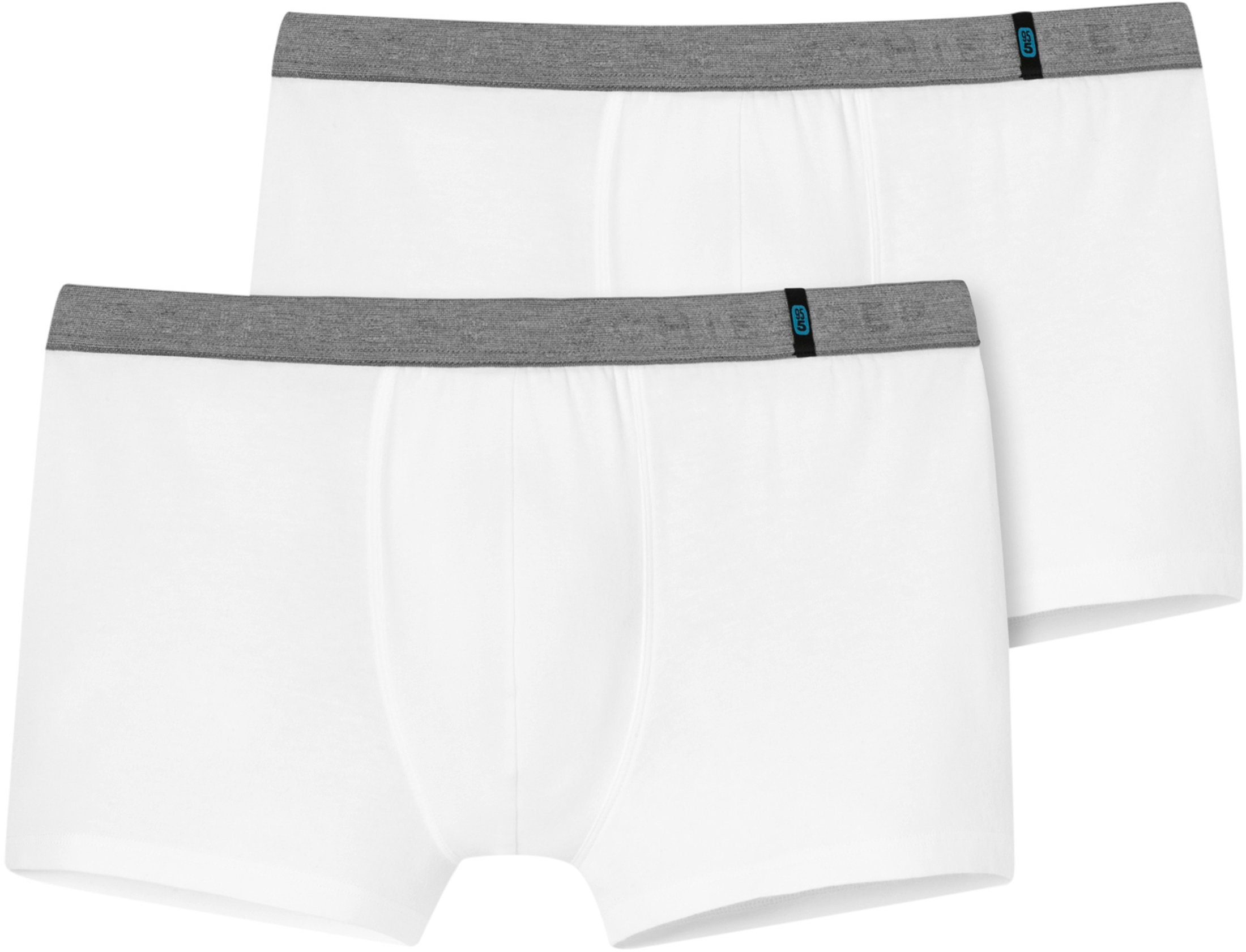 Schiesser Boxer Shorts White Grey 2-Pack