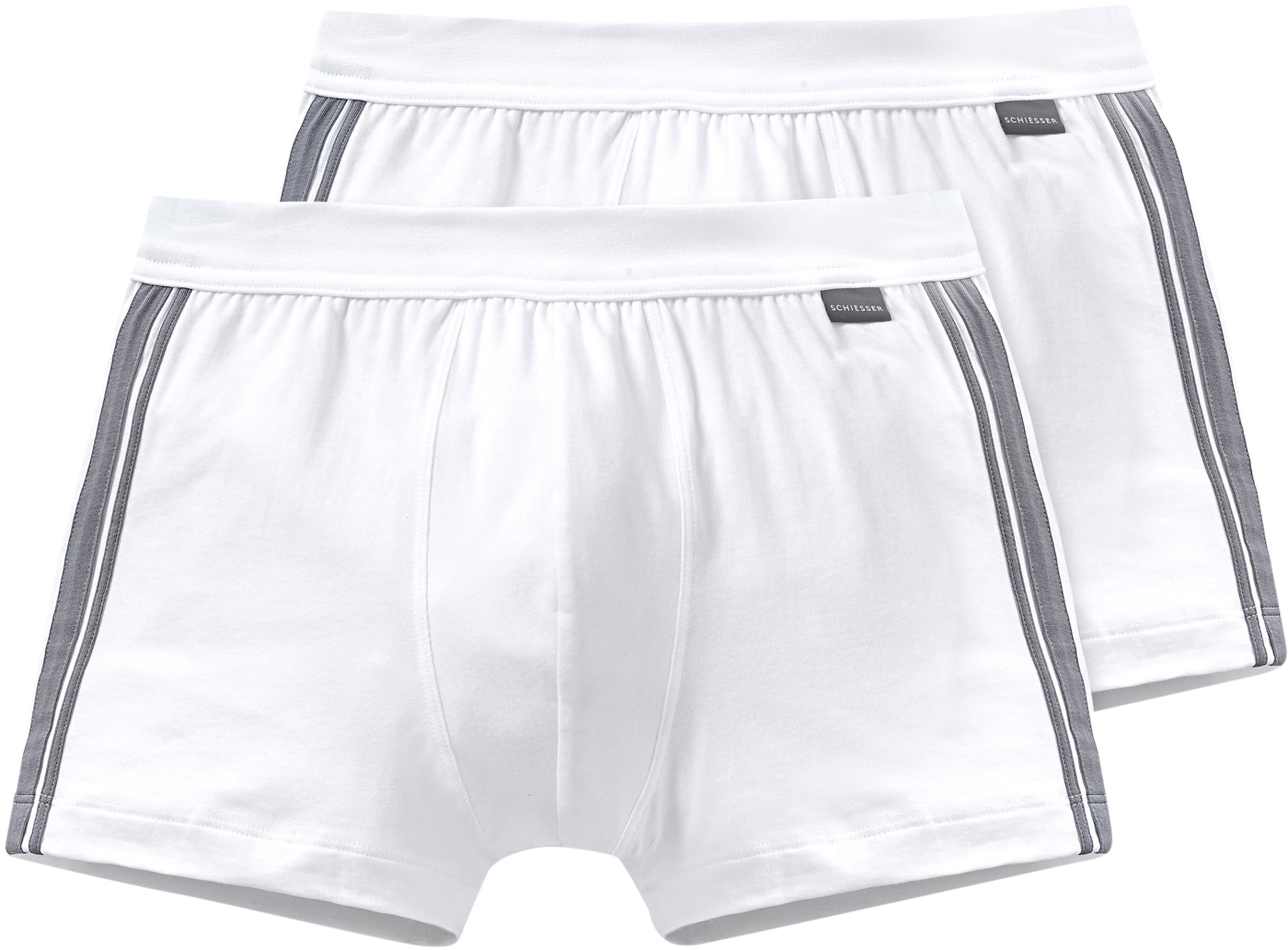 Schiesser Boxer Shorts White Striped 2-Pack