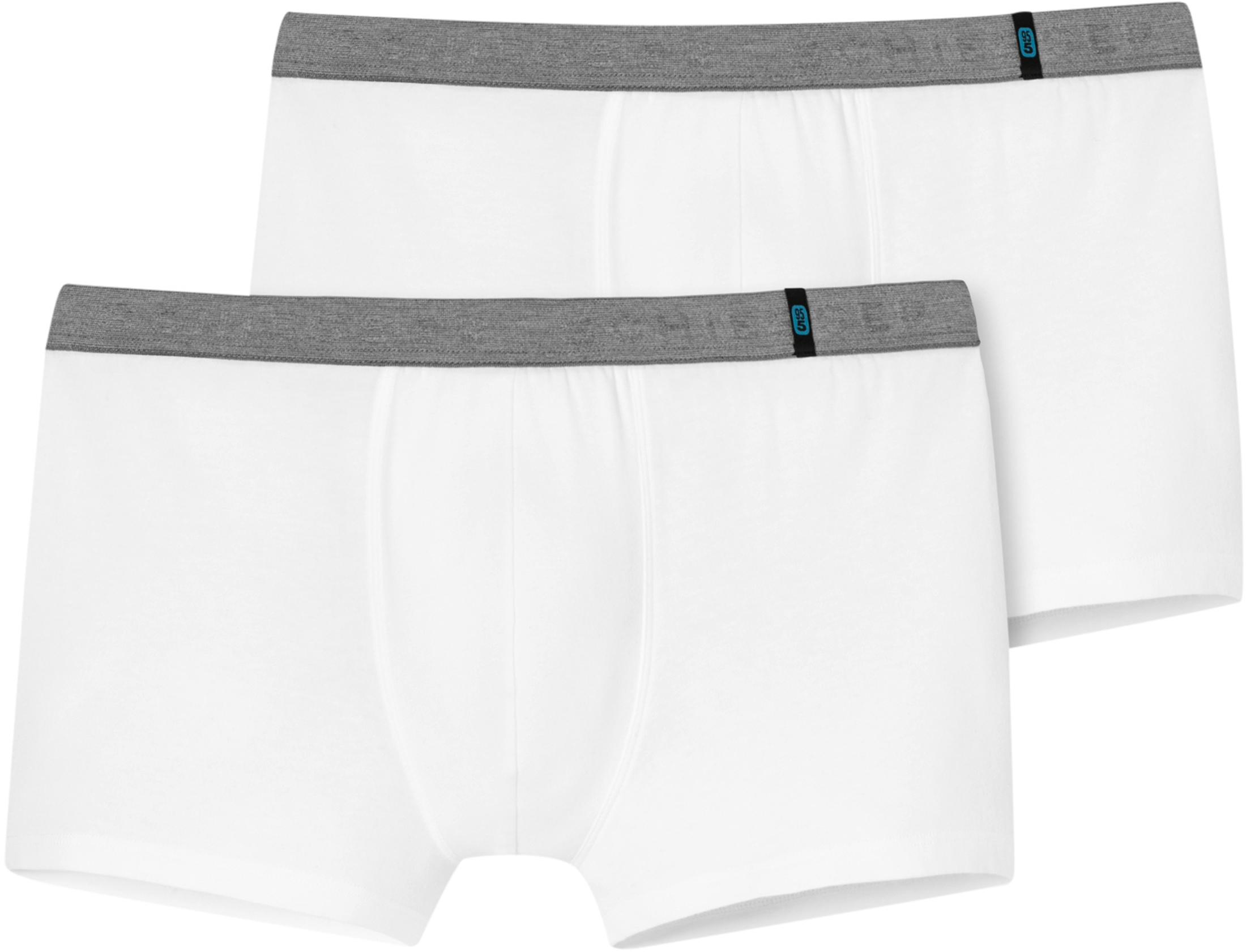 Schiesser Boxershort White Grey (2Pack)