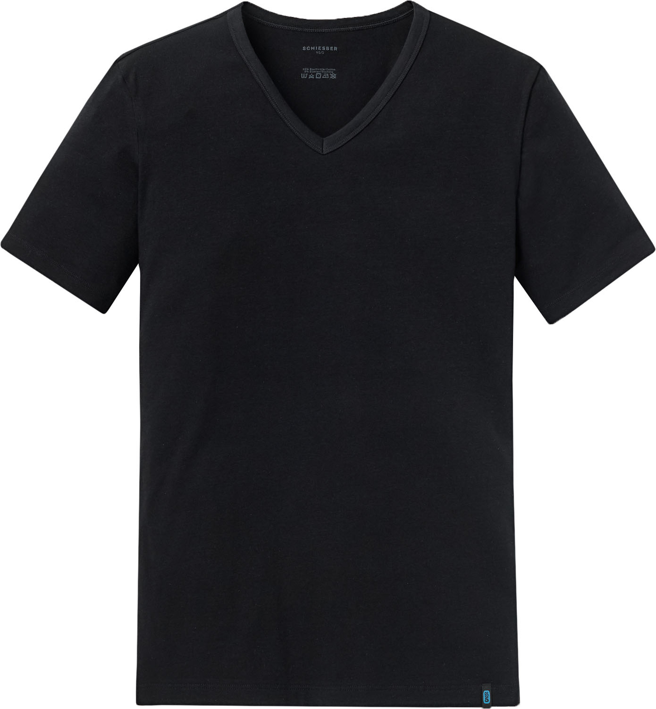 Schiesser T-shirt V-Neck Black