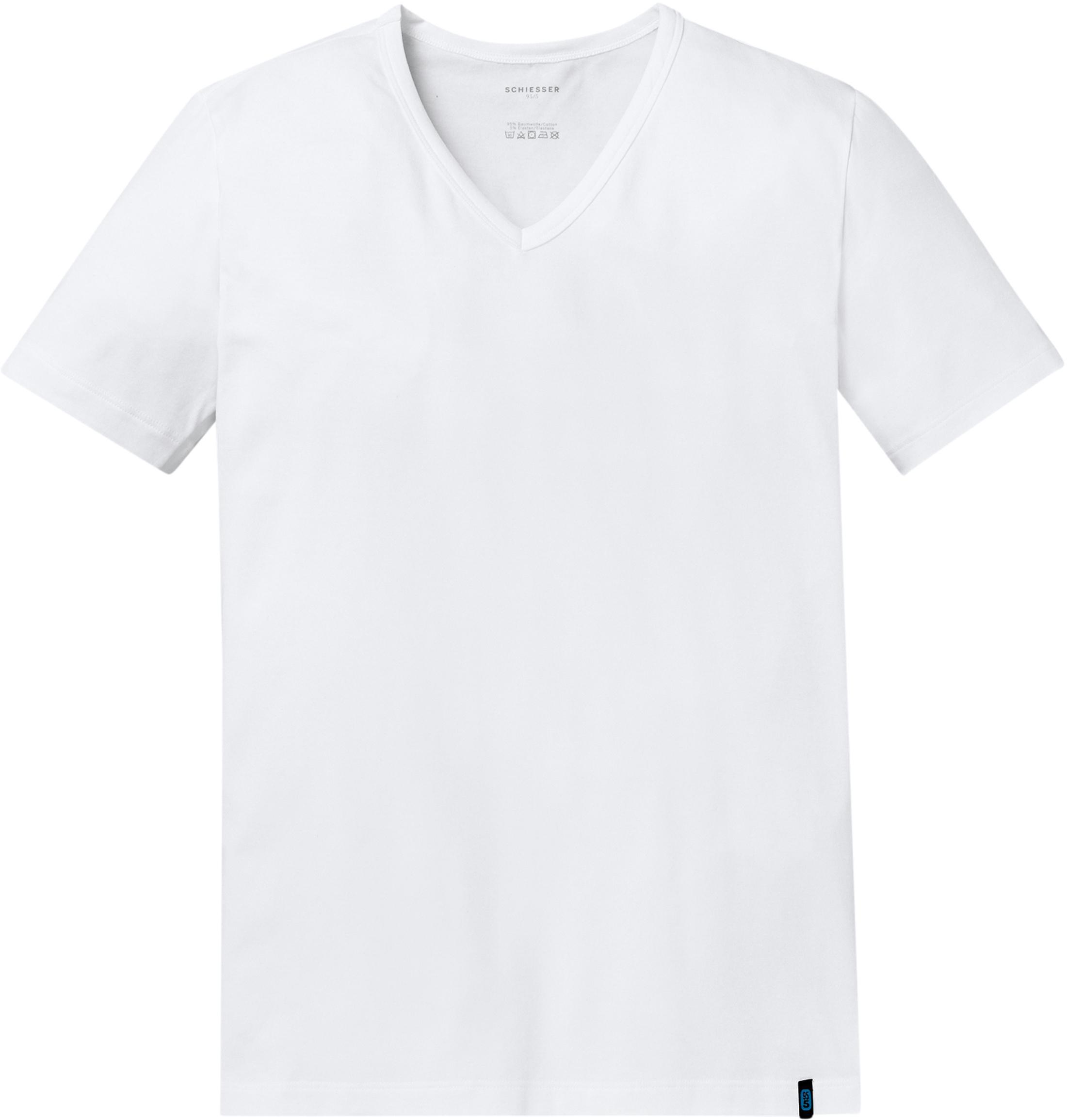 Schiesser T-shirt V-Neck White