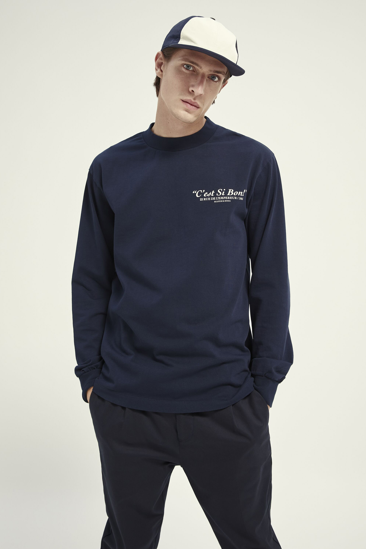 Scotch and Soda Longsleeve T-shirt Donkerblauw
