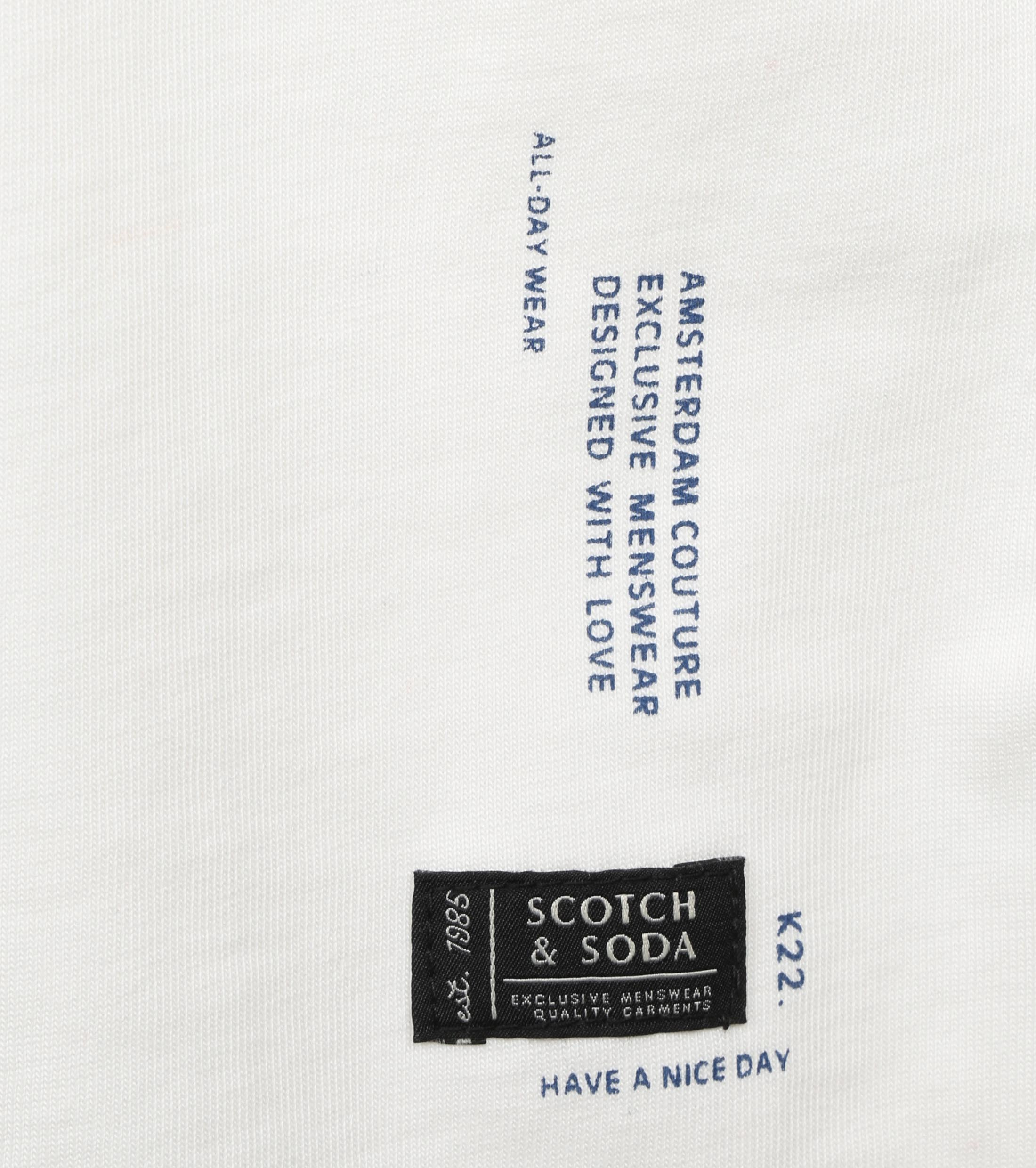 Scotch and Soda Longsleeve T-shirt Wit
