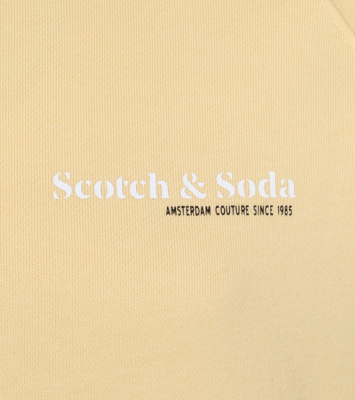 Scotch and Soda Sweater Logo Geel