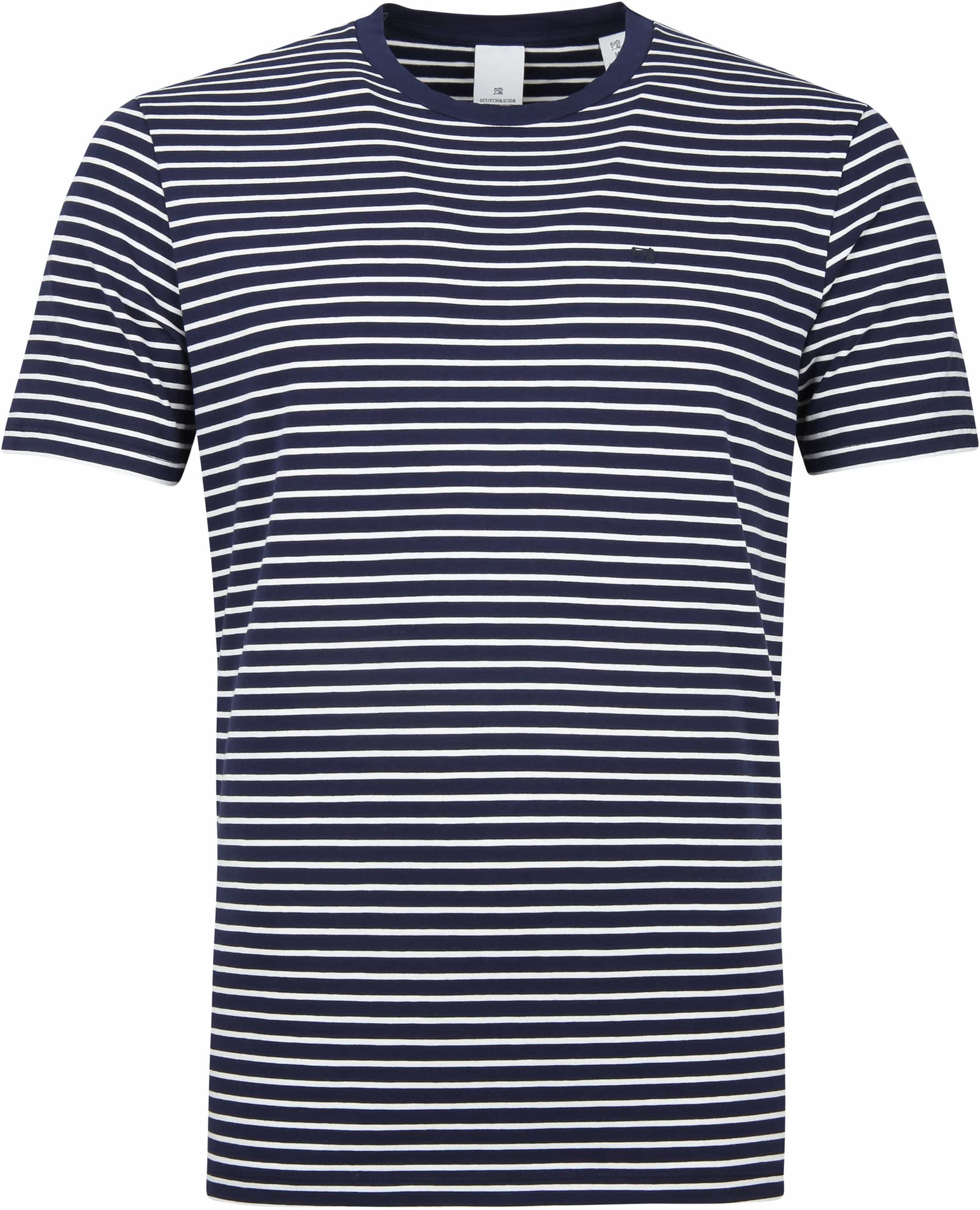 Scotch and Soda T-shirt Navy Strepen foto 0