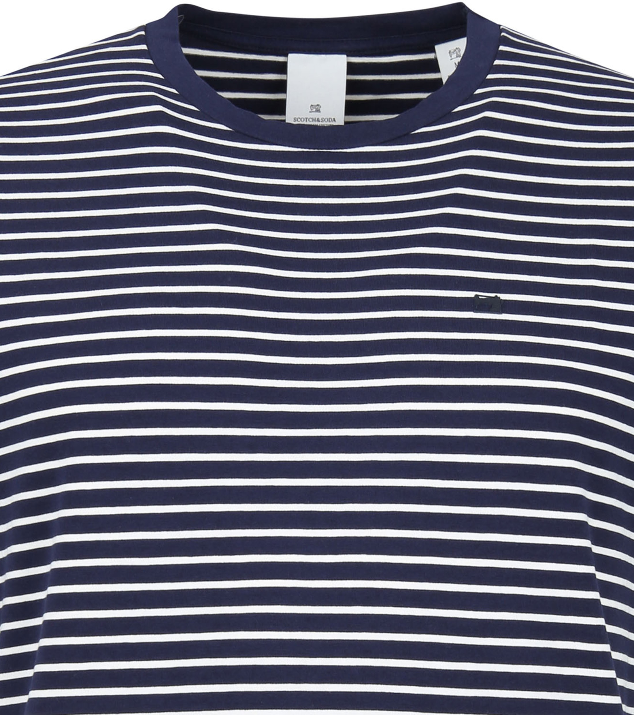 Scotch and Soda T-shirt Navy Strepen foto 1
