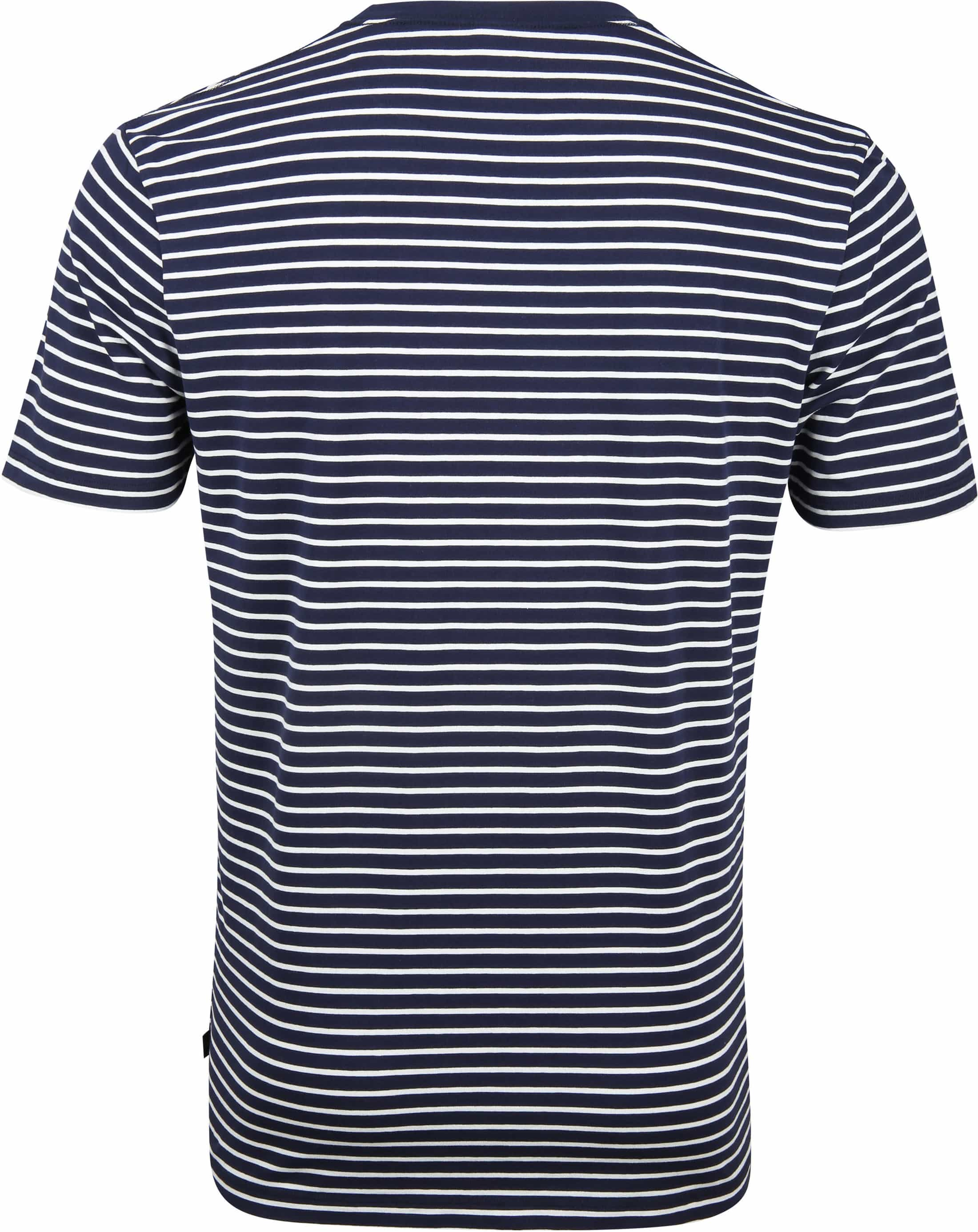 Scotch and Soda T-shirt Navy Strepen foto 3