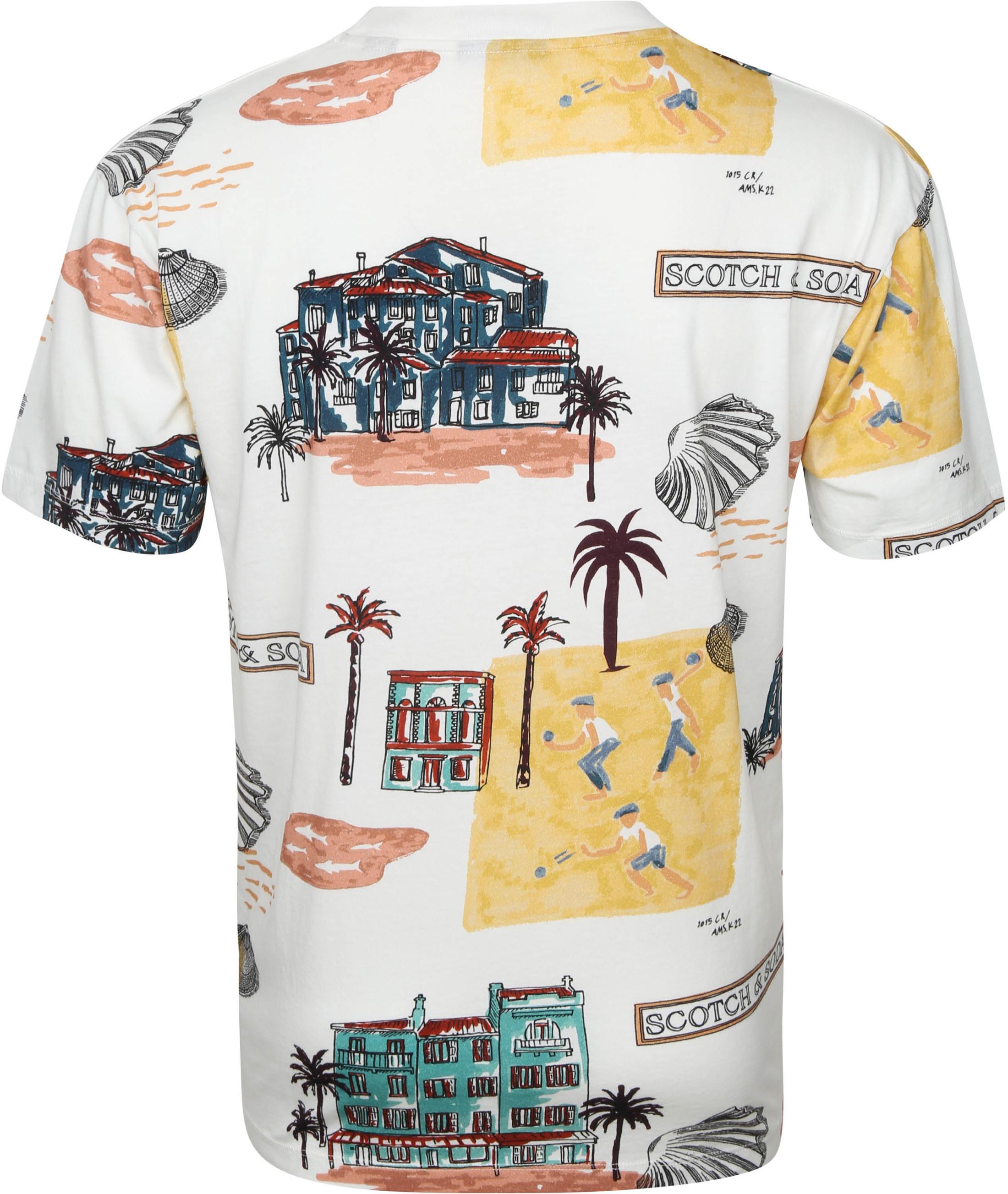 Scotch & Soda T-Shirt Beach Multicolour